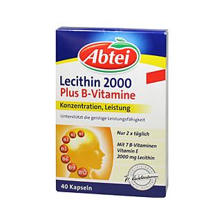 abtei lecithin 2000 plus b vitamine kapseln 40 st kaufen