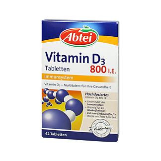 abtei vitamin d3 800 i e tabletten 42 st kaufen. Black Bedroom Furniture Sets. Home Design Ideas