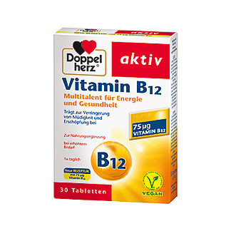 doppelherz aktiv vitamin b12 tabletten 30 st kaufen. Black Bedroom Furniture Sets. Home Design Ideas