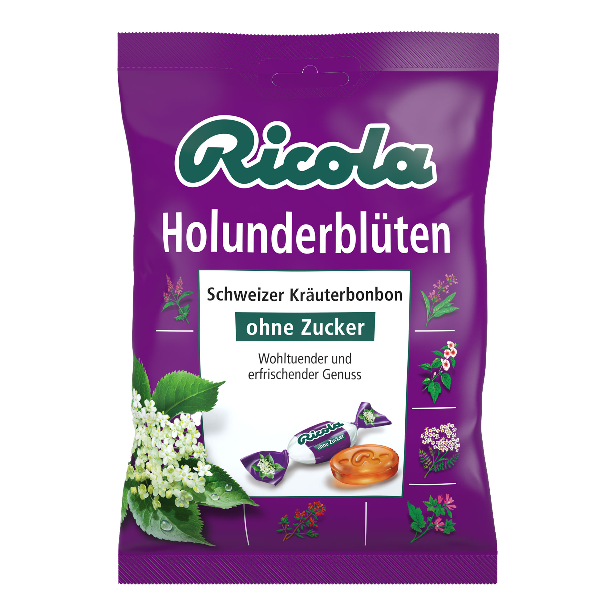 Ricola Holunderblüten Bonbons ohne Zucker