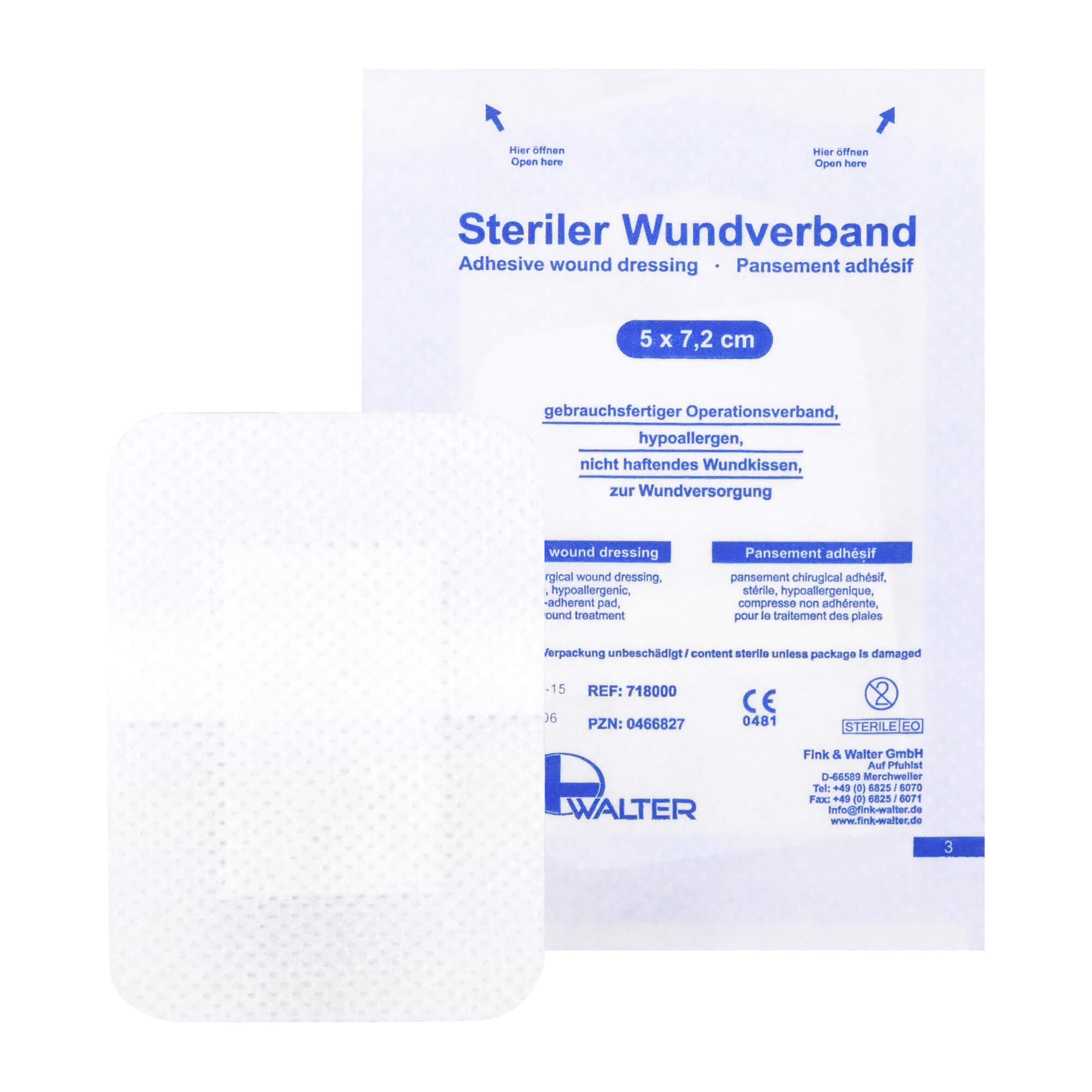 Wundverband Steril 5X7,2 cm