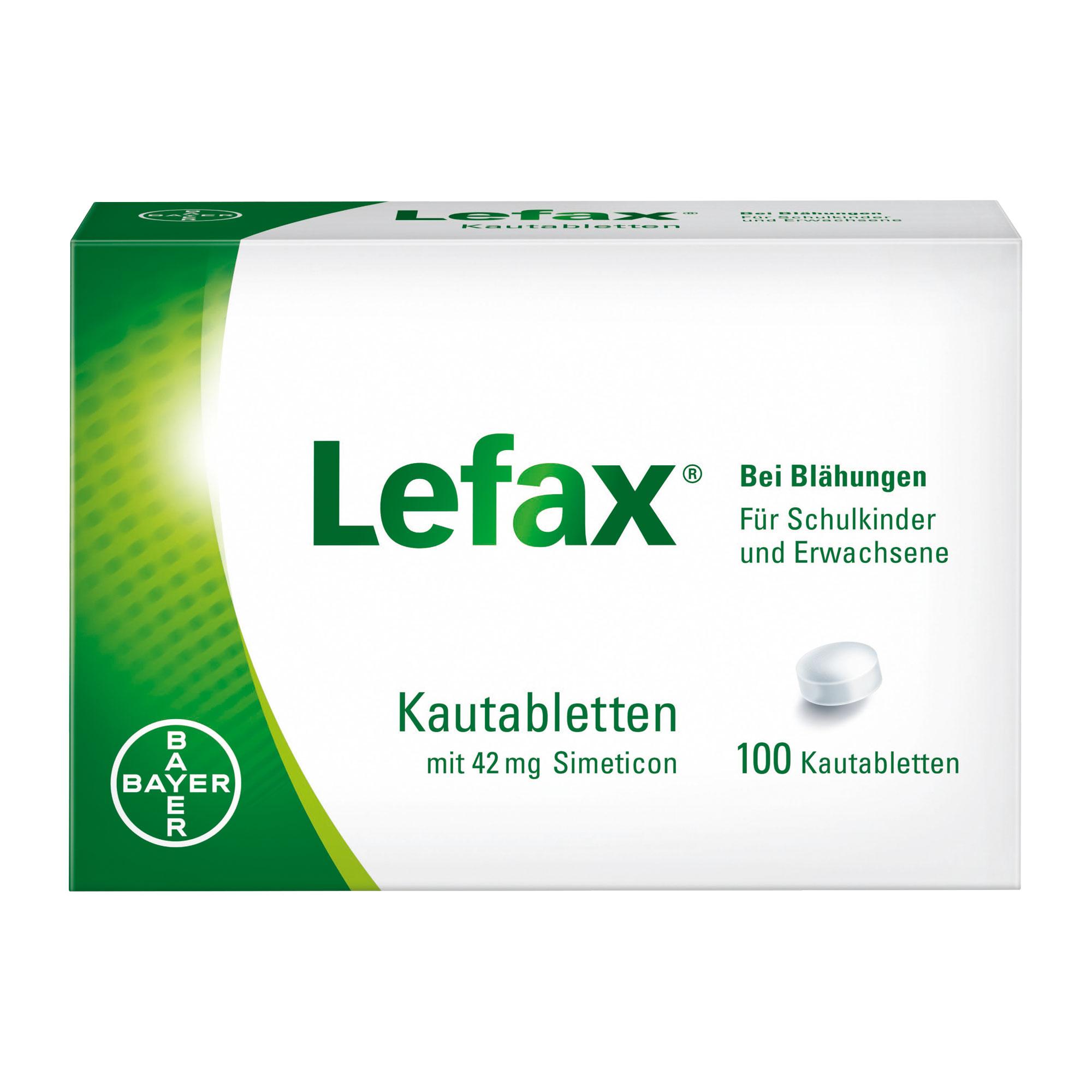 Lefax Kautabletten bei Blähungen