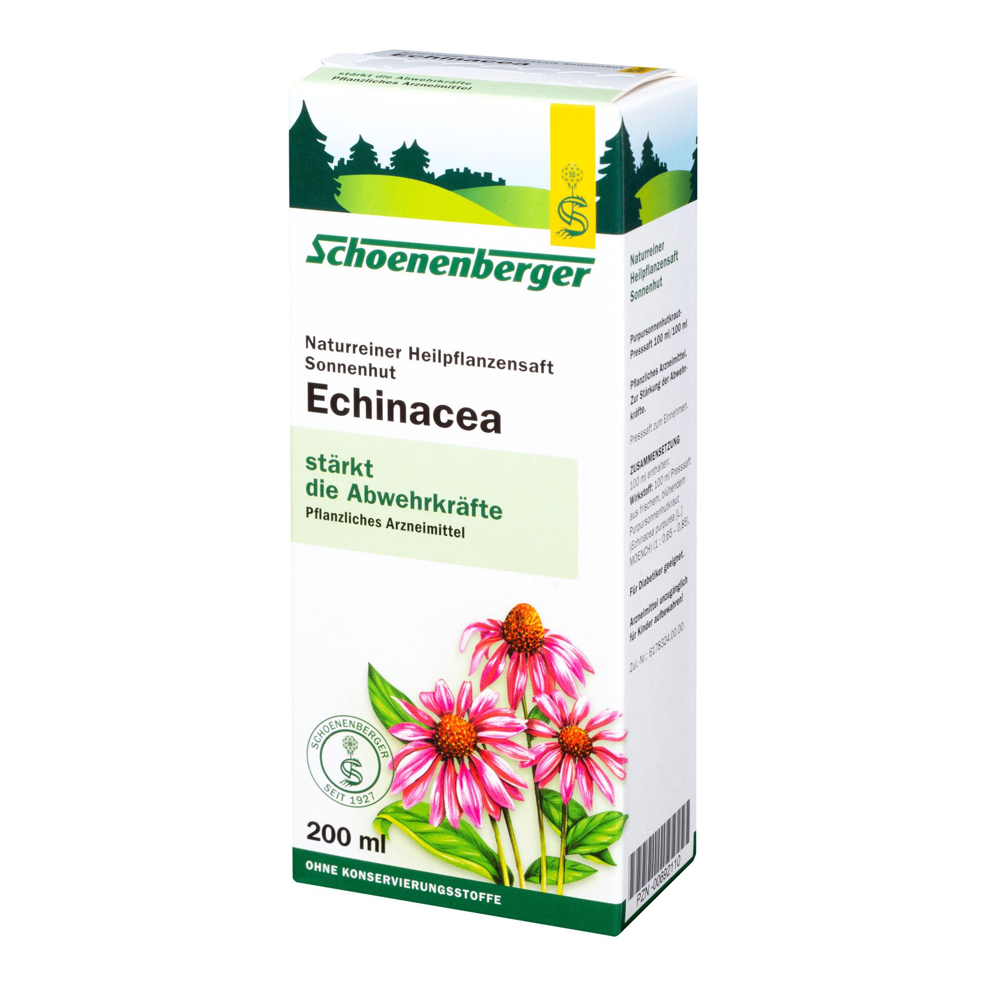Echinacea Saft Sonnenhut Schoenenberger