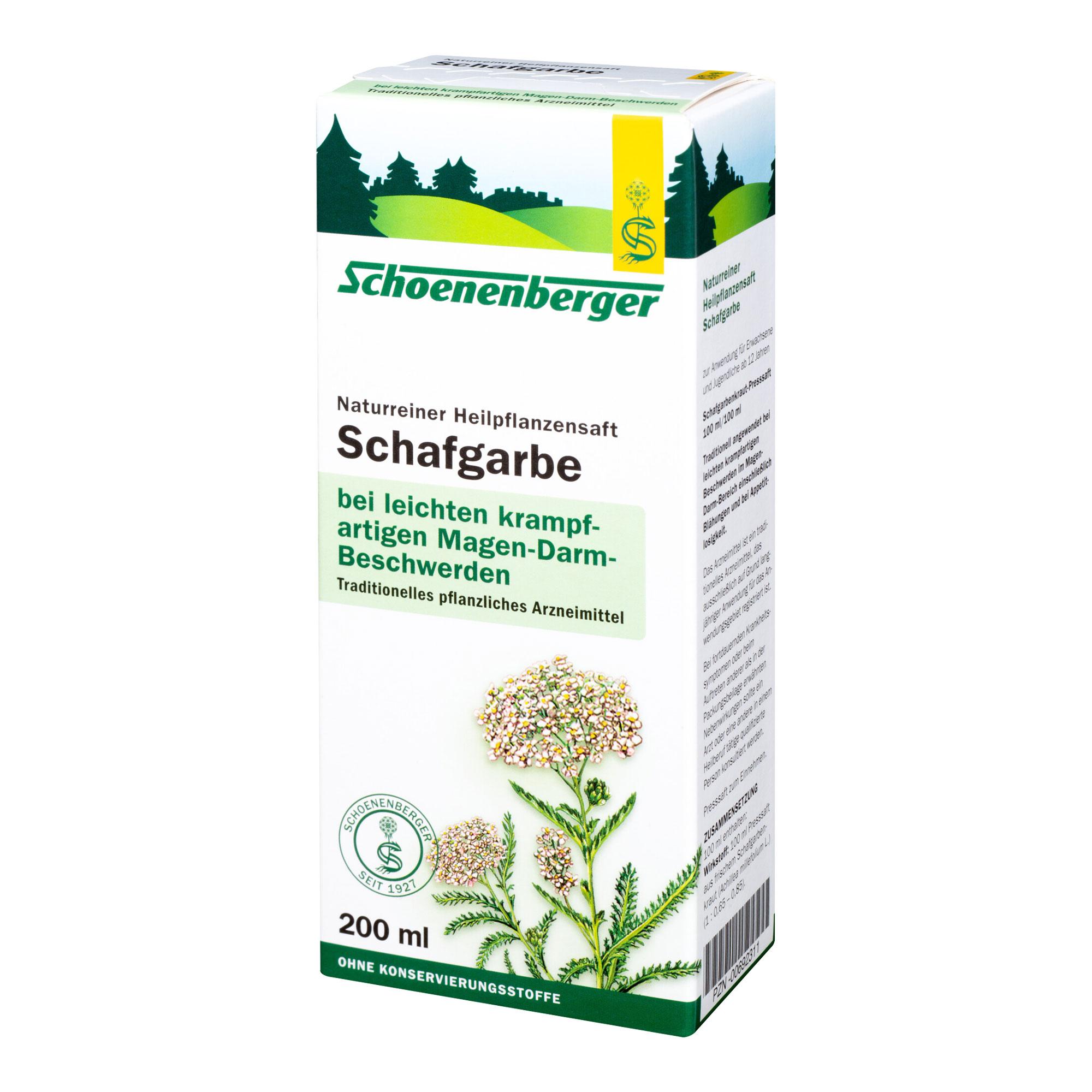 Schafgarben Saft Schoenenberger