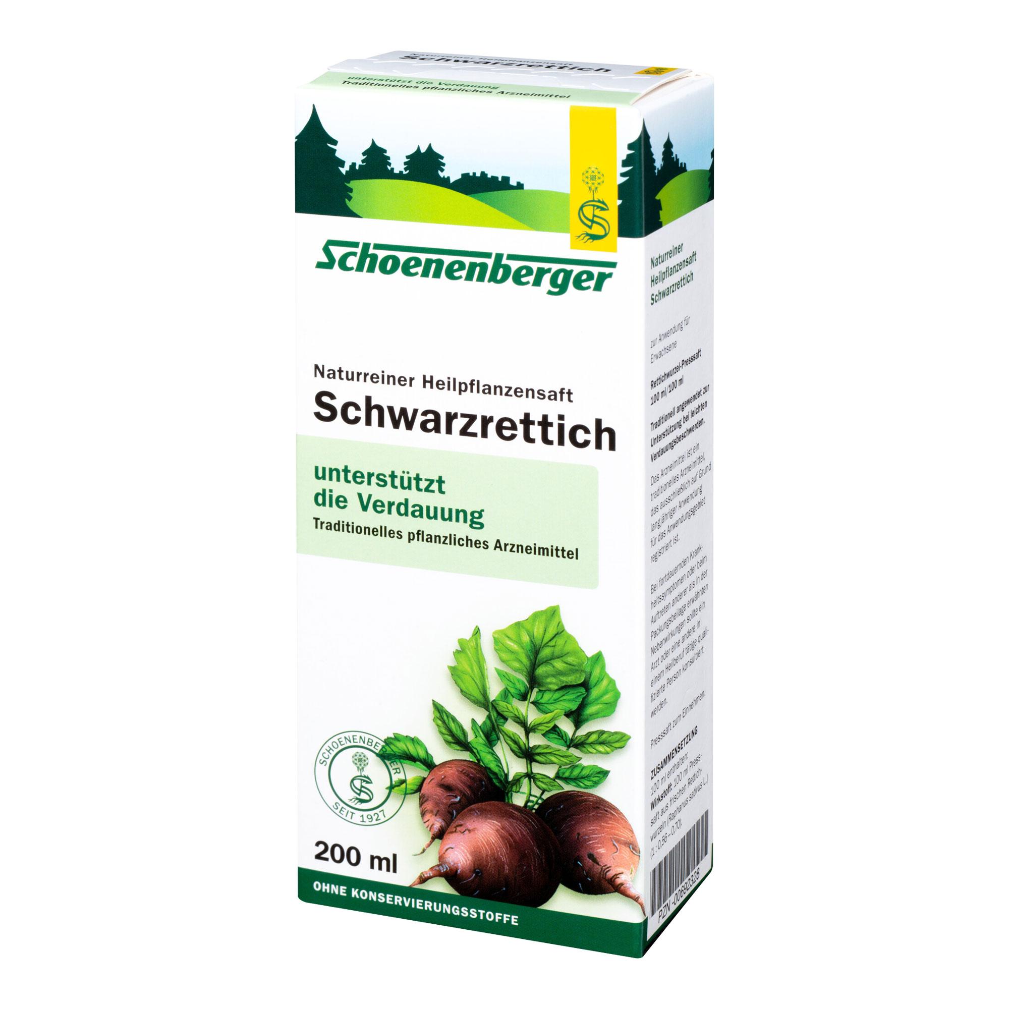 Schwarzrettich Saft Schoenenberger Heilpflanzensäfte
