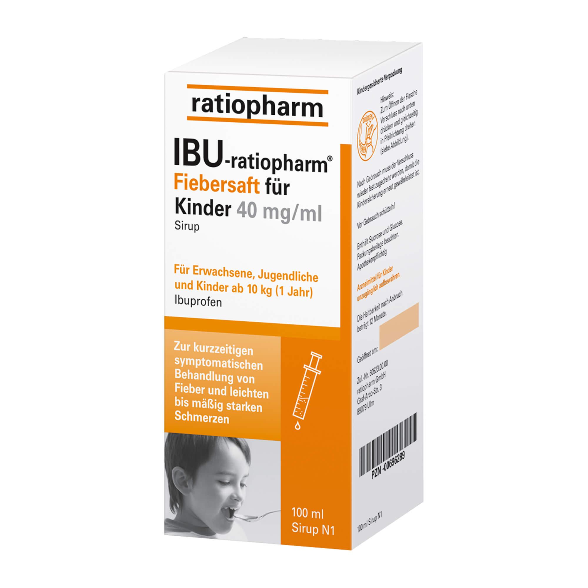 IBU-ratiopharm 4% Fiebersaft für Kinder