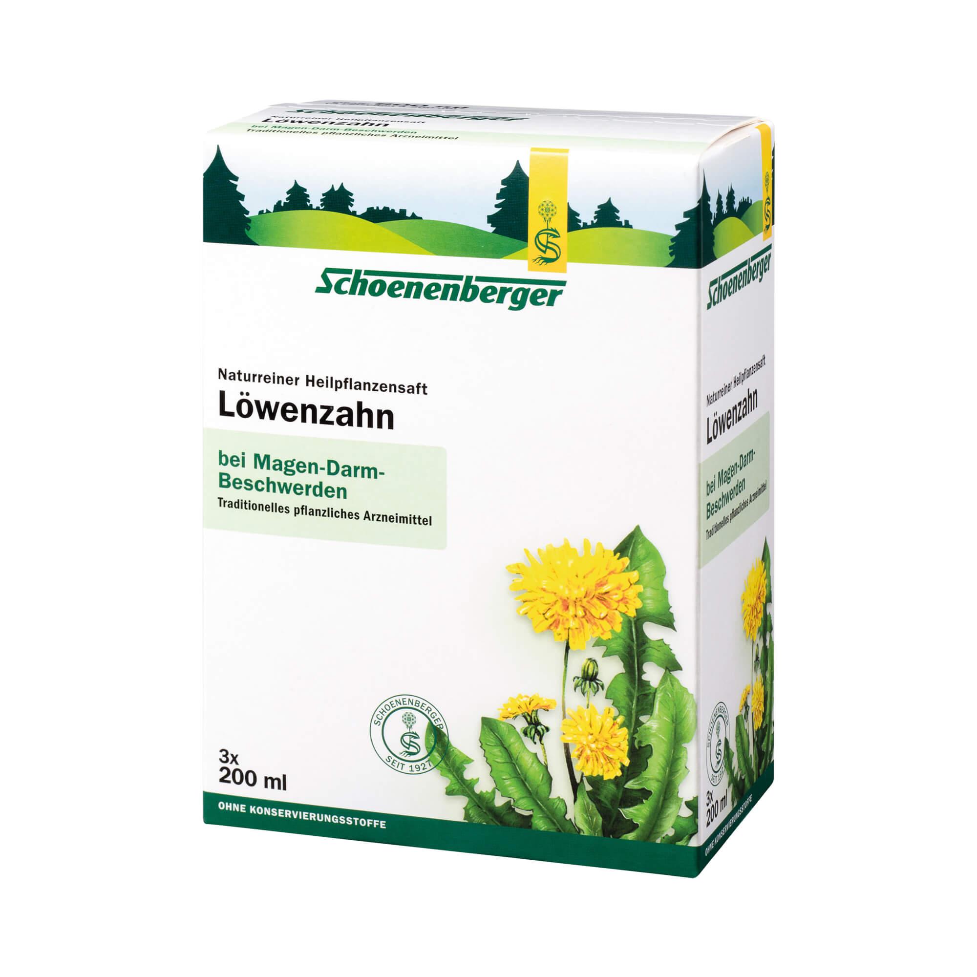 Löwenzahn Saft Schoenenberger Heilpflanzen Säfte