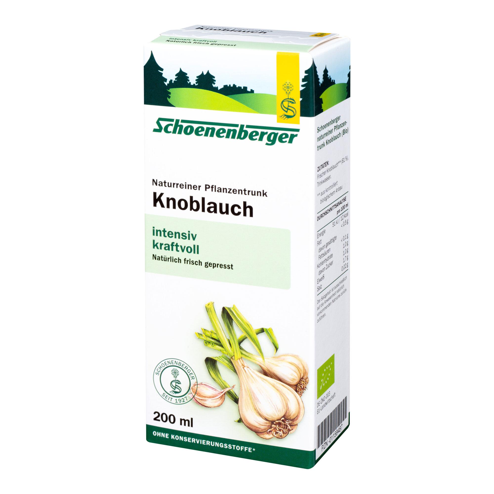 Knoblauch naturreiner Pflanzentrunk Schoenenberger