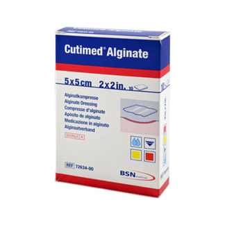 Cutimed Alginate Alginatkompressen 5x5 cm