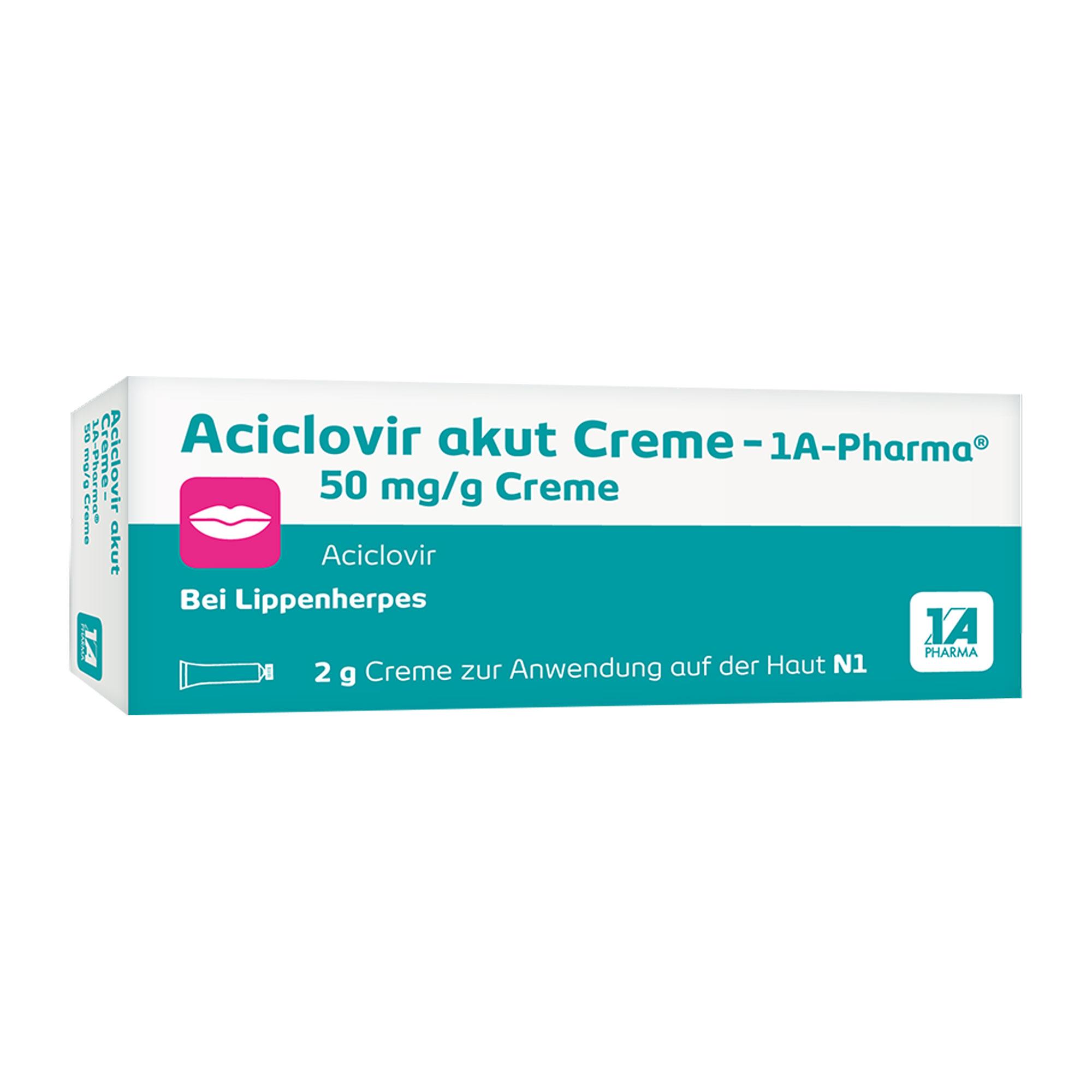 Aciclovir akut Creme - 1 A Pharma