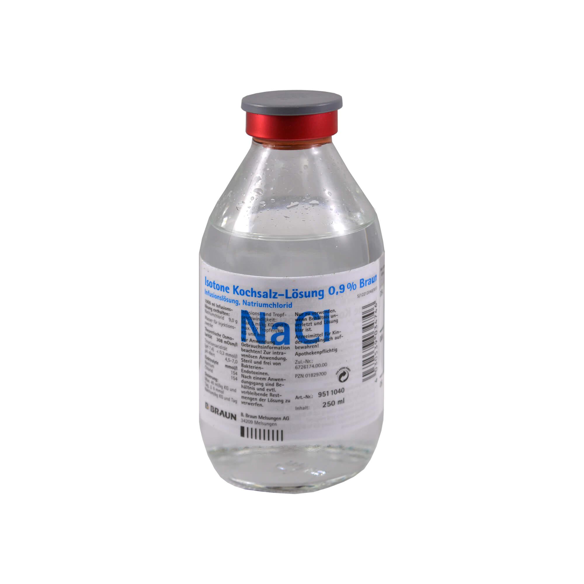 Kochsalz 0,9% Isotonisch Glasflasche