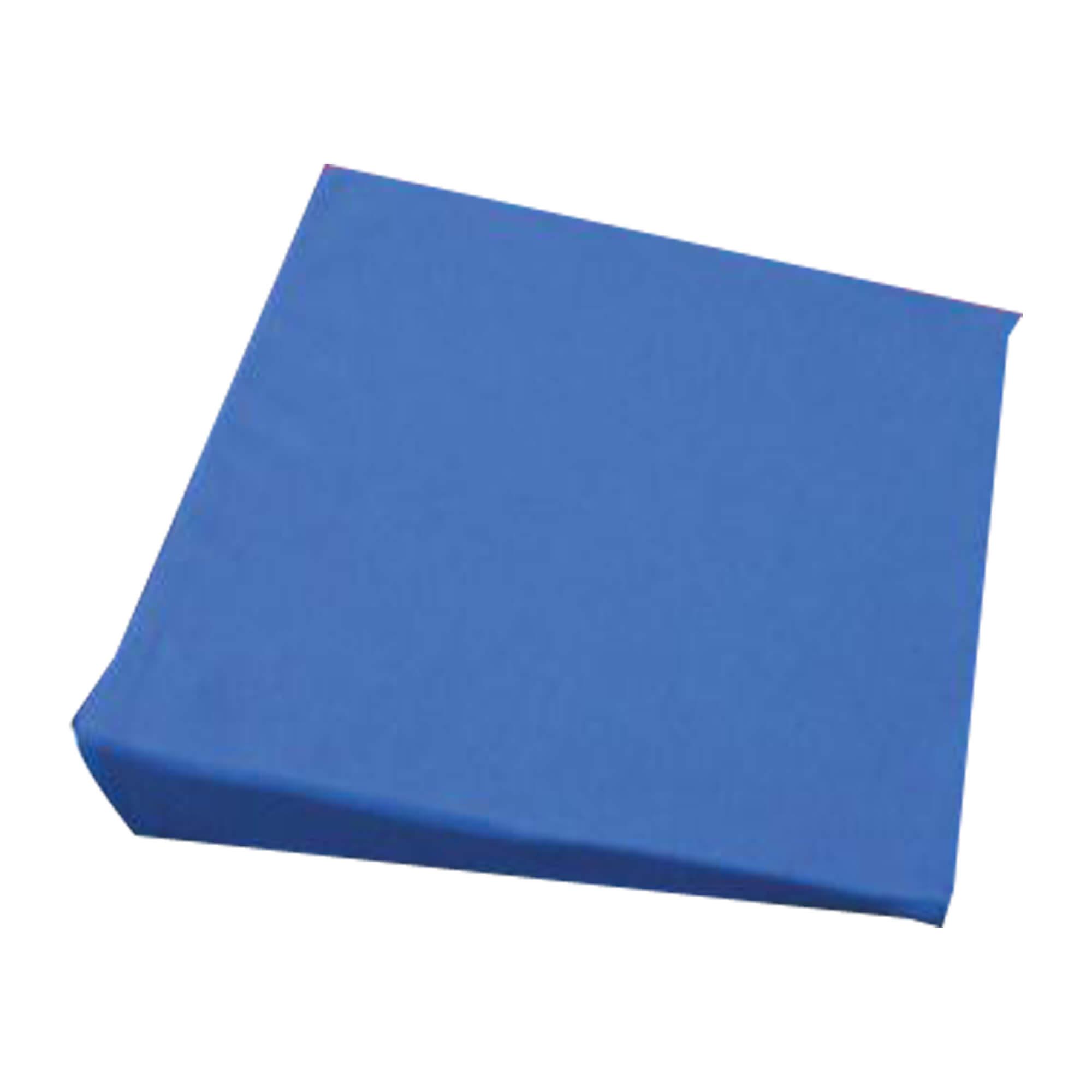 Keilkissen mit Bezug blau