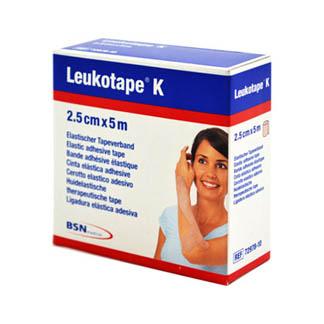 Leukotape K 2,5 cm Hautfarben