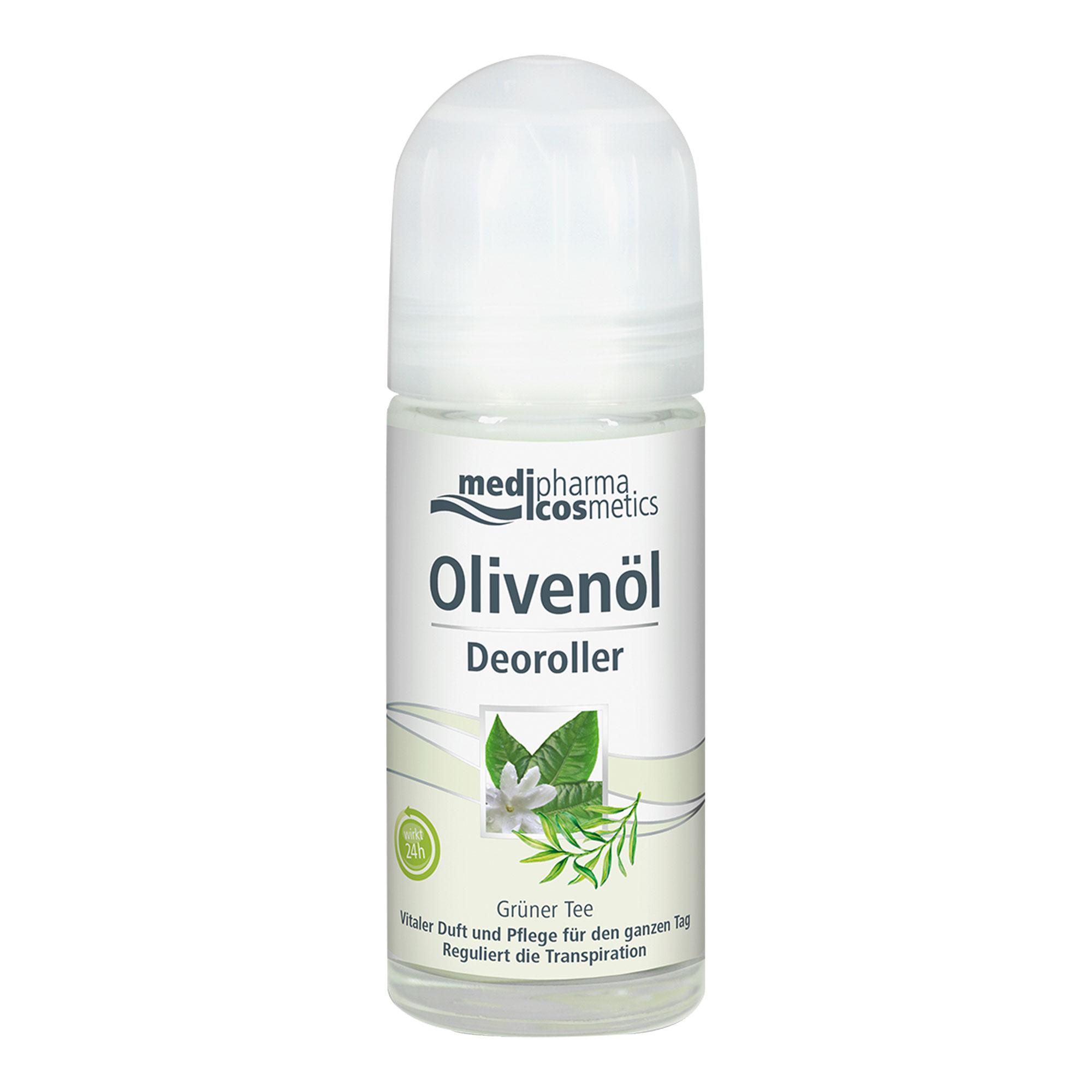 Olivenöl Deoroller Grüner Tee