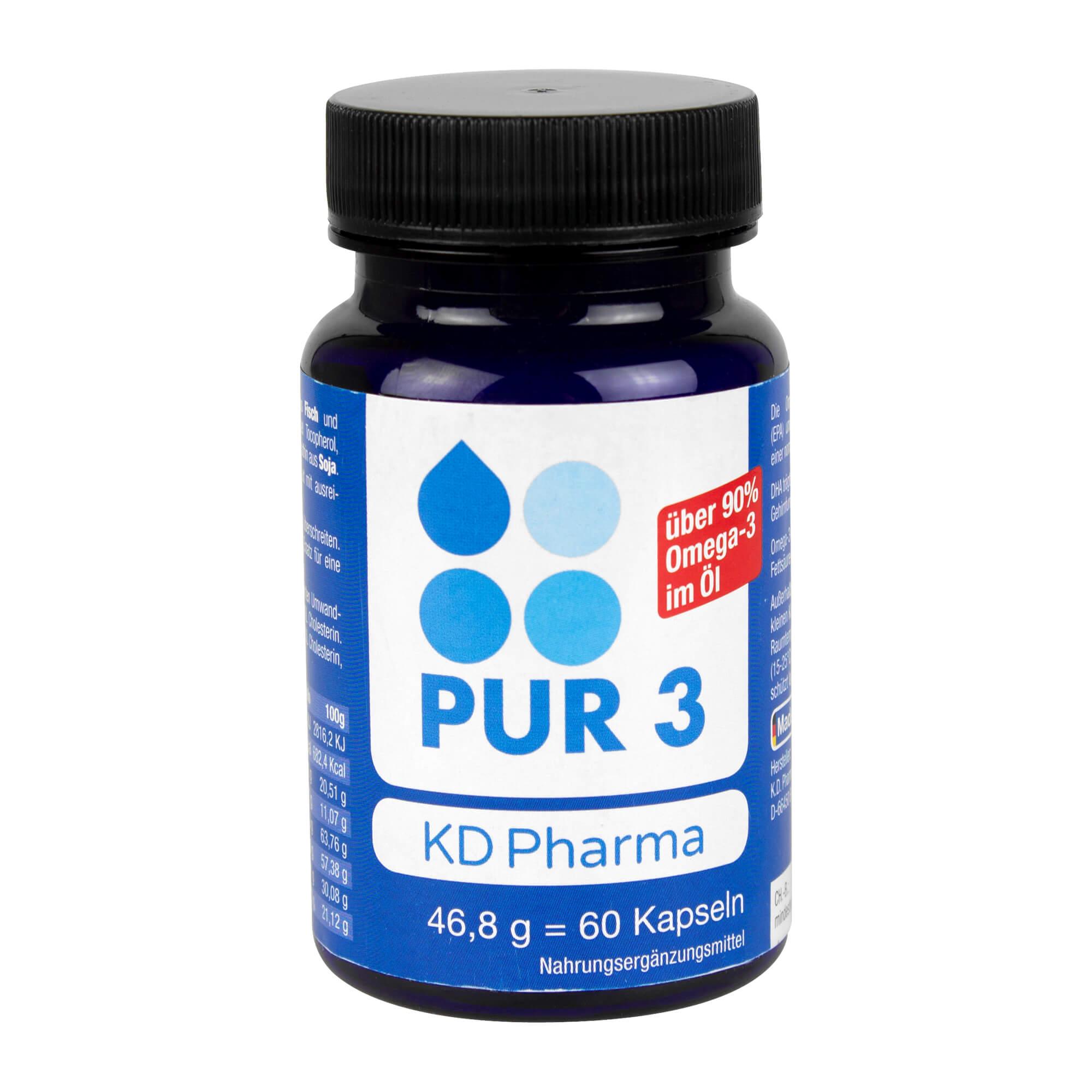 PUR 3 Omega-3-Öl-Kapseln