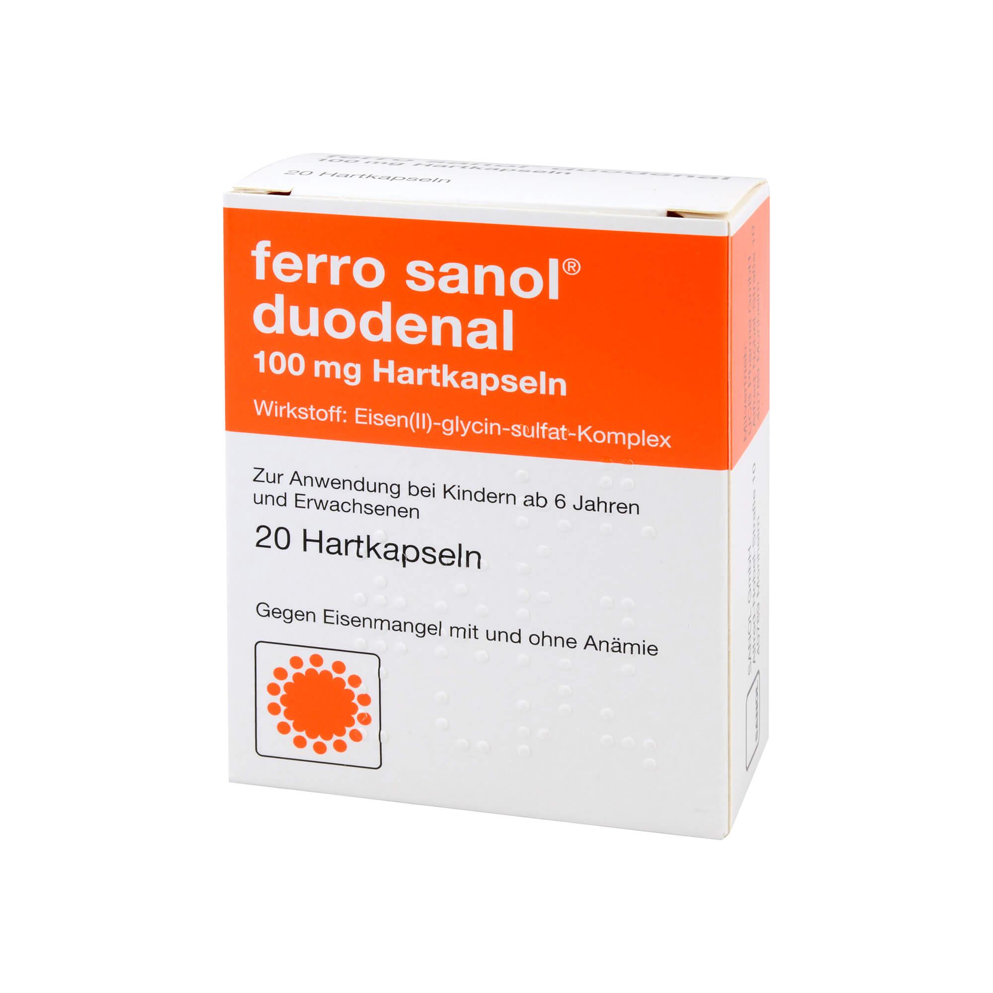 Ferro sanol duodenal Hartkapseln bei Eisenmangel