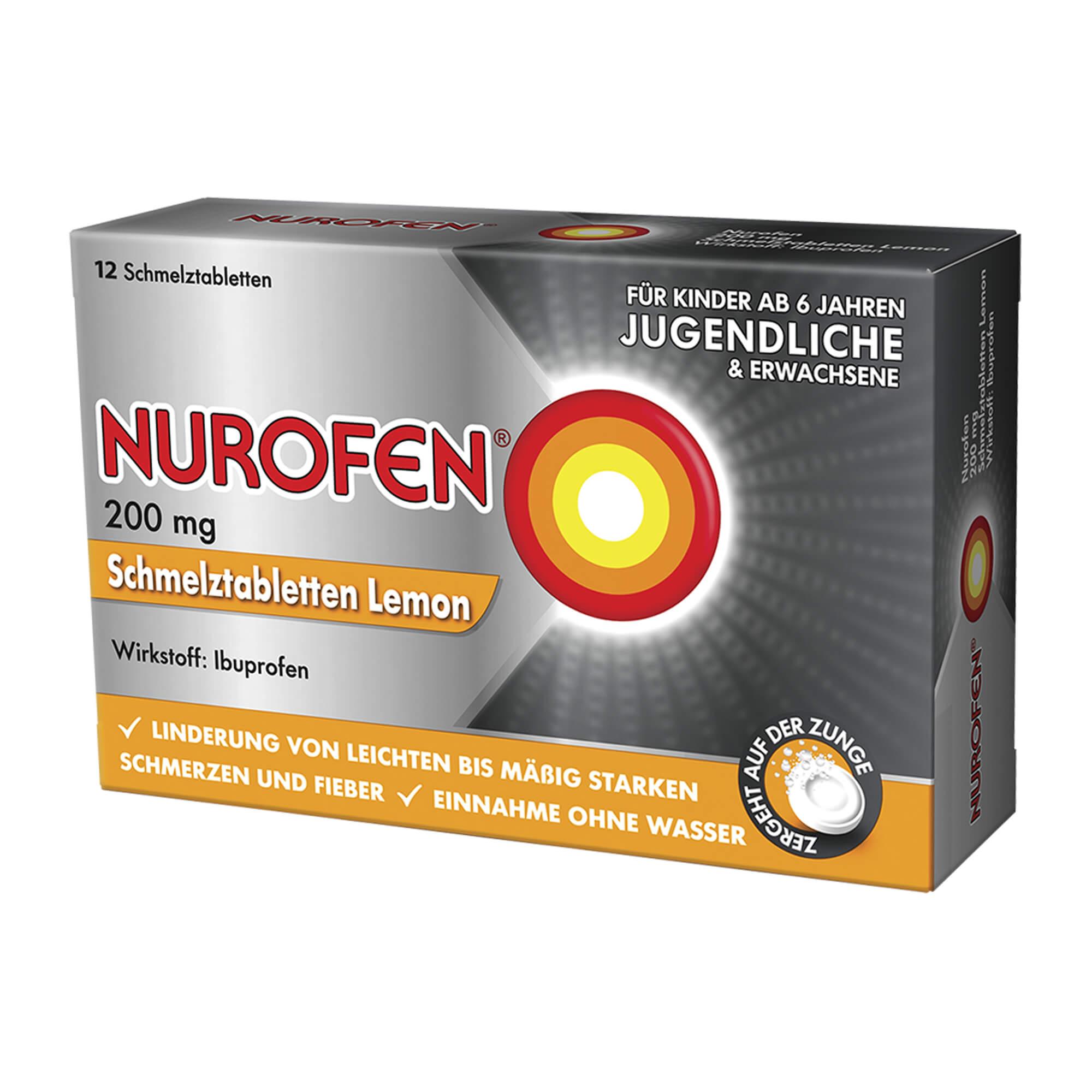 Nurofen Schmelztabletten Lemon bei Kopfschmerzen 200 mg