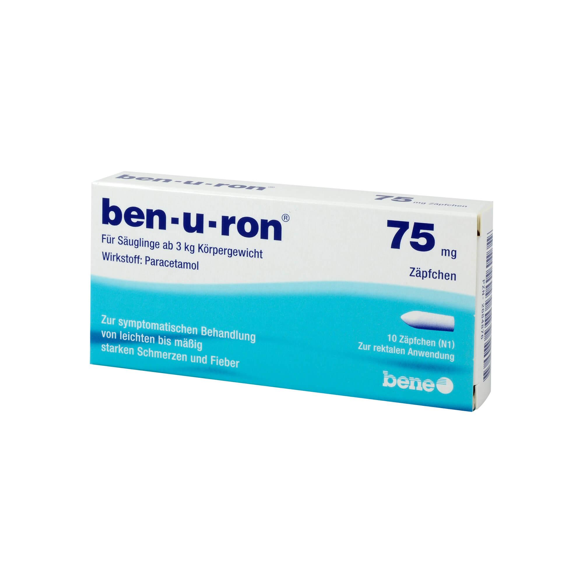 ben-u-ron 75 mg Zäpfchen für Säuglinge ab 3kg