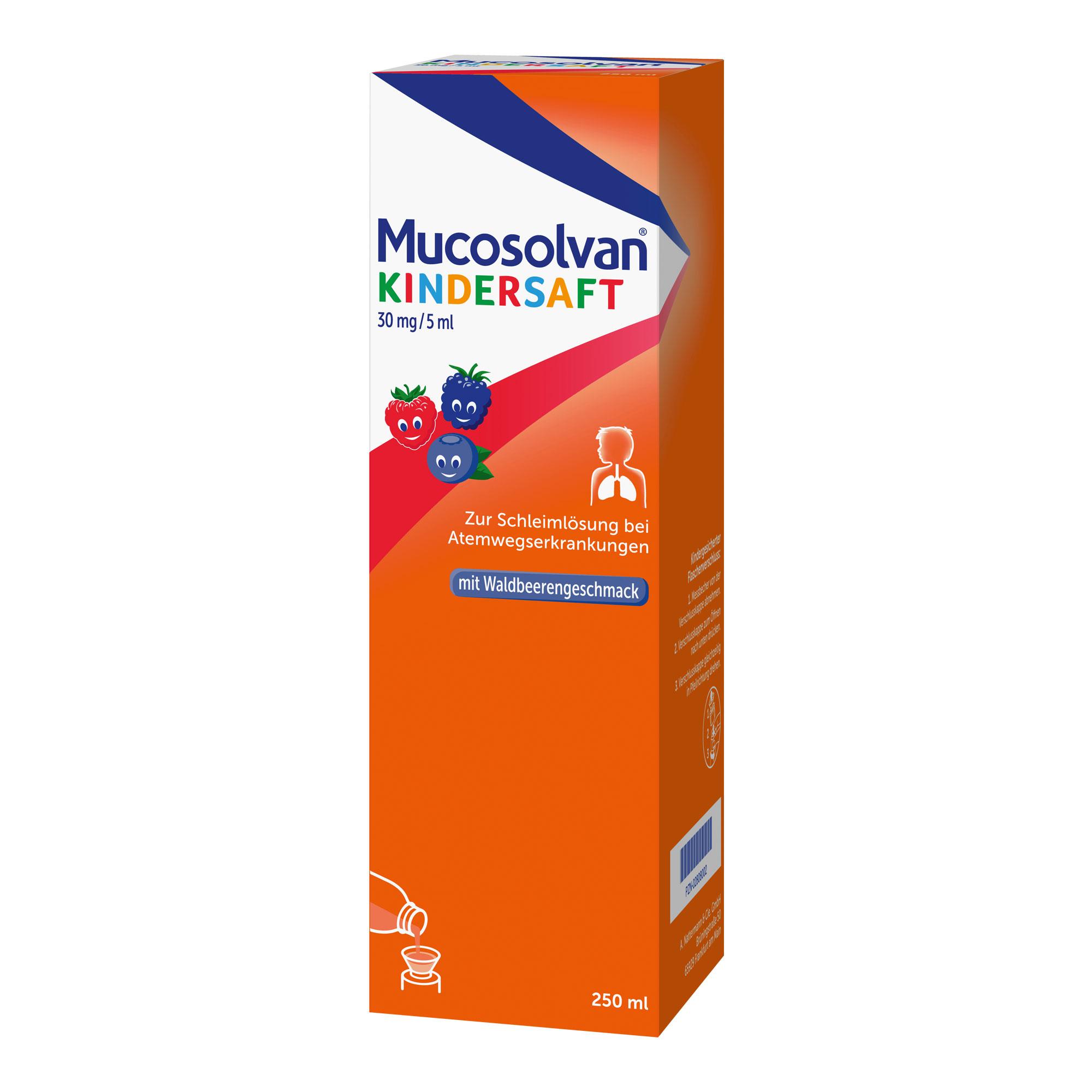 Mucosolvan Kindersaft 30 mg/ 5 ml