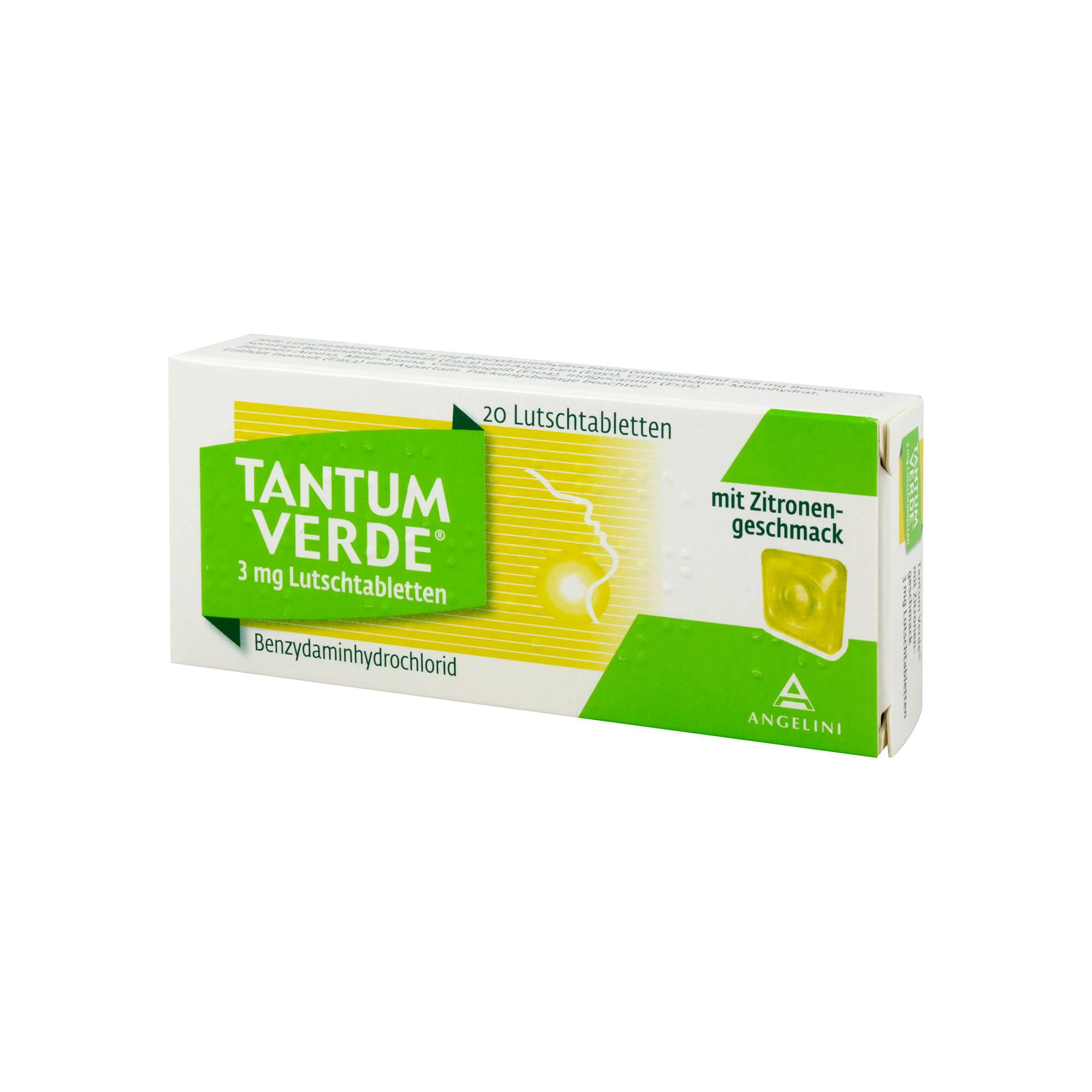 Tantum Verde 3 mg mit Zitronengeschmack Lutschtabletten