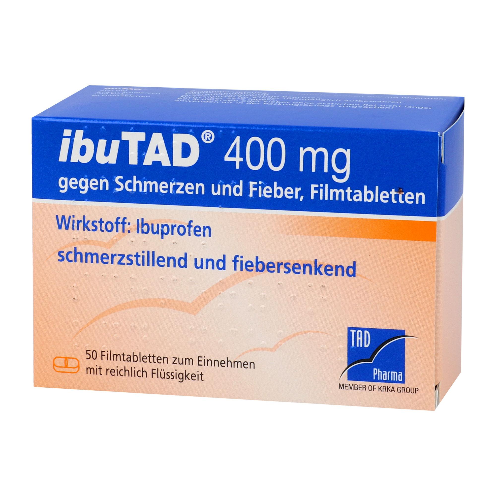 Ibutad 400 mg gegen Schmerzen und Fieber