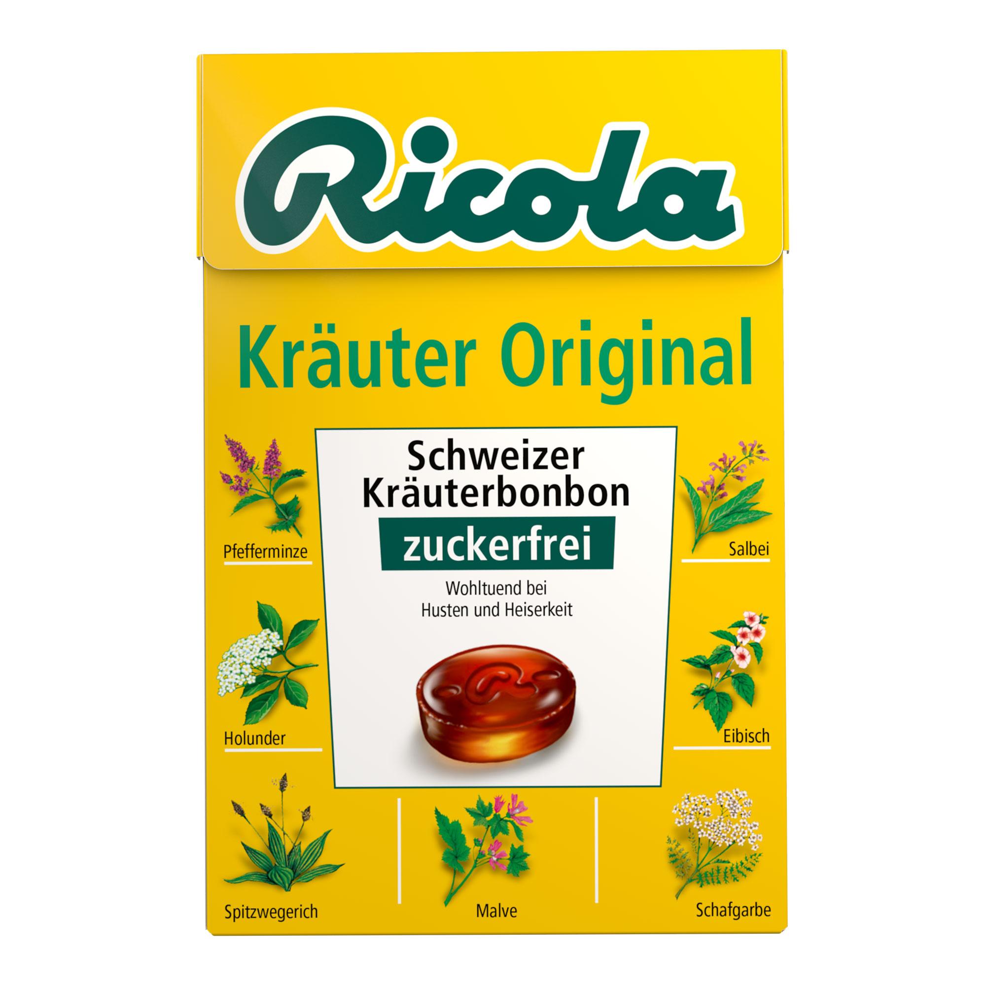 Ricola Box Kräuter Bonbons ohne Zucker