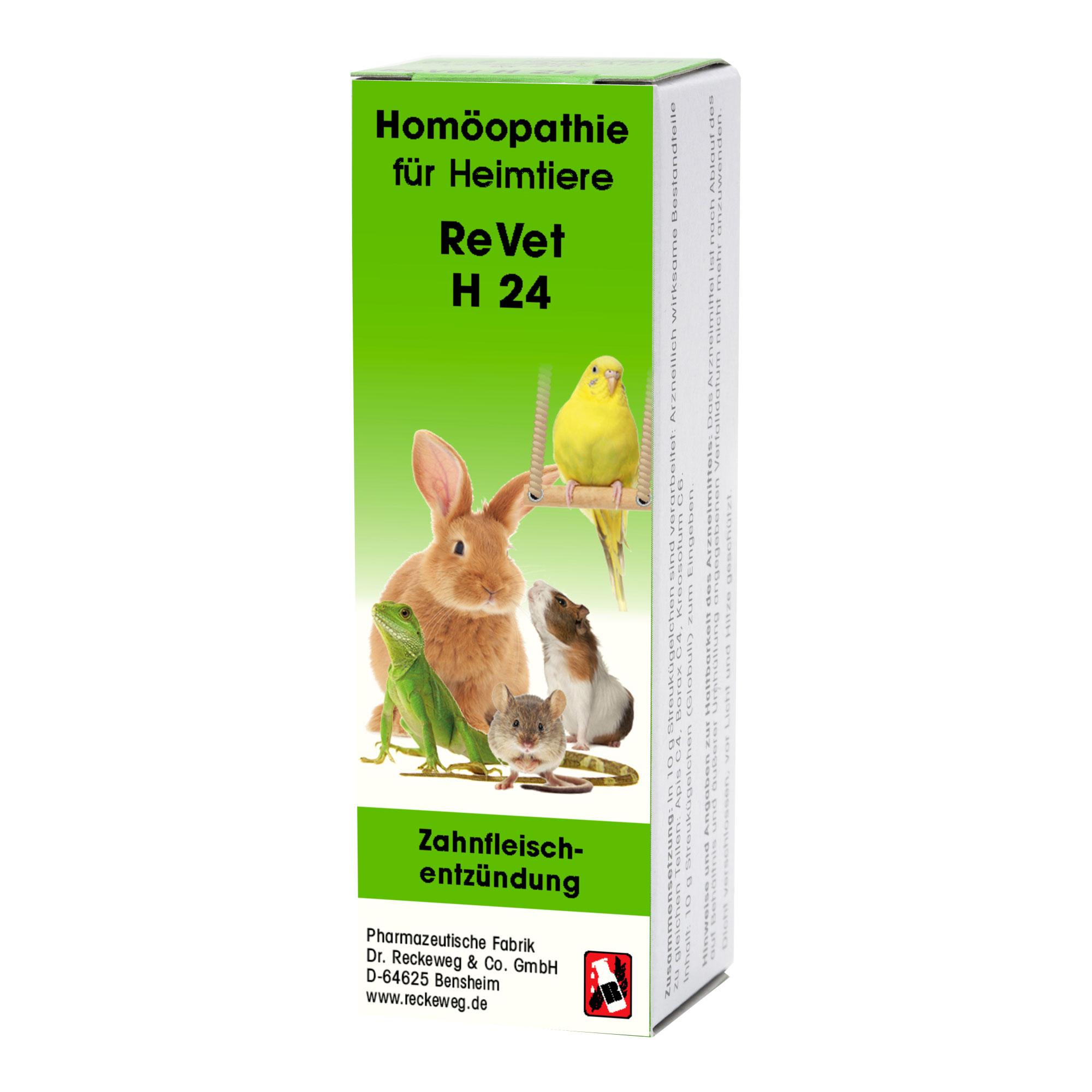 Revet H 24 Globuli für Heimtiere