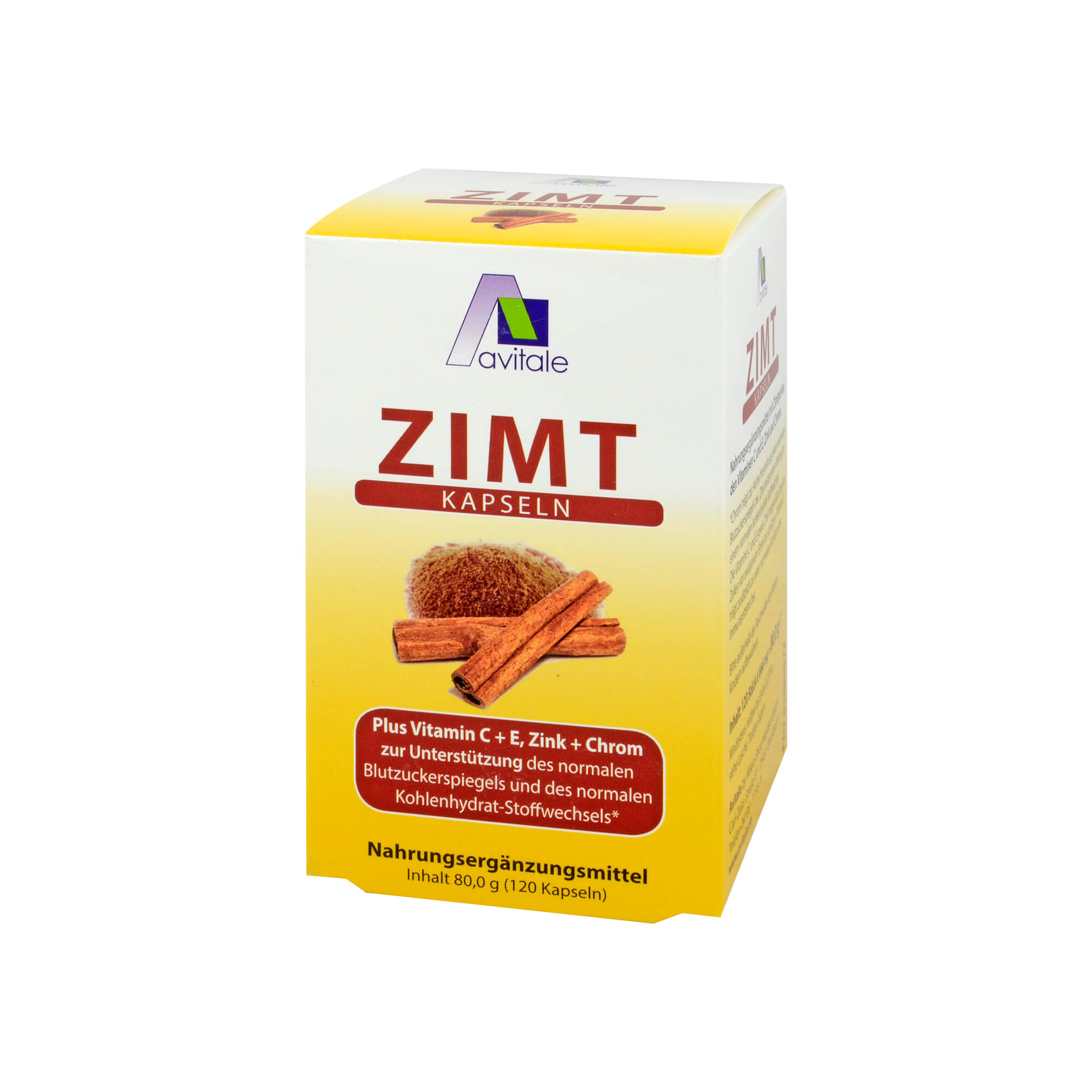 Zimtkapseln 500mg + Vitamin C+E