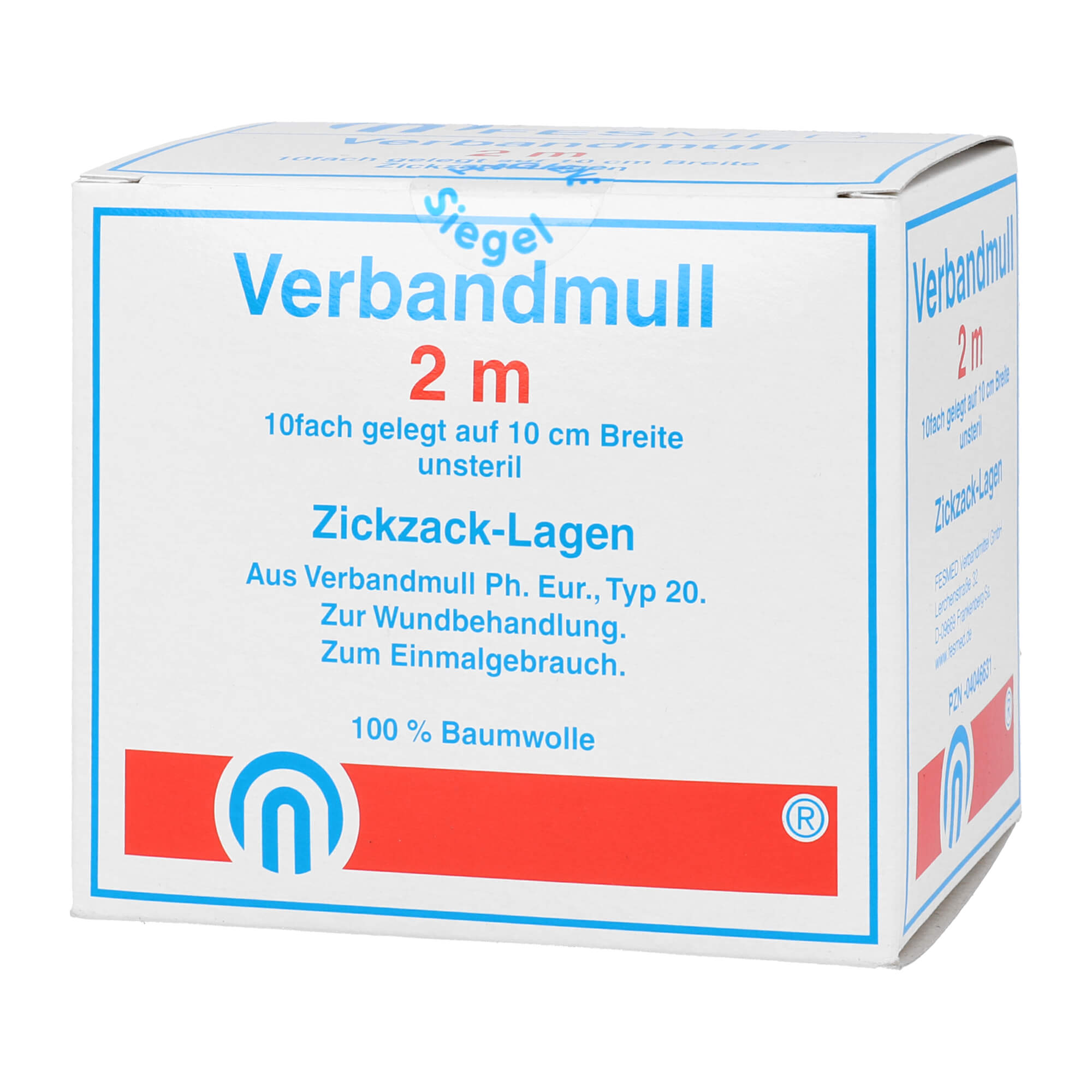 Verbundmull 2x1 m zickzack BW 20/100 unsteril