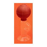 Handmilchpumpe aus Glas mit Gummiball