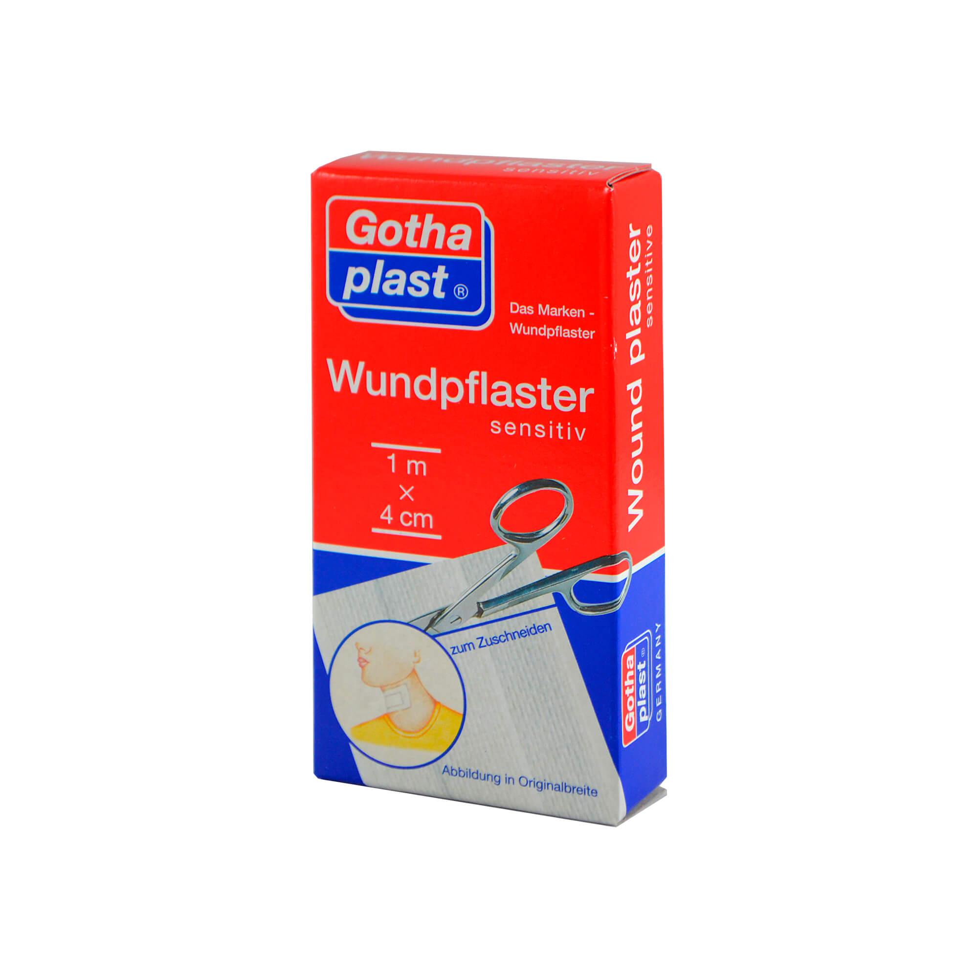 Gothaplast Wundpflaster sensitiv 4 cmx1 m geschnitten