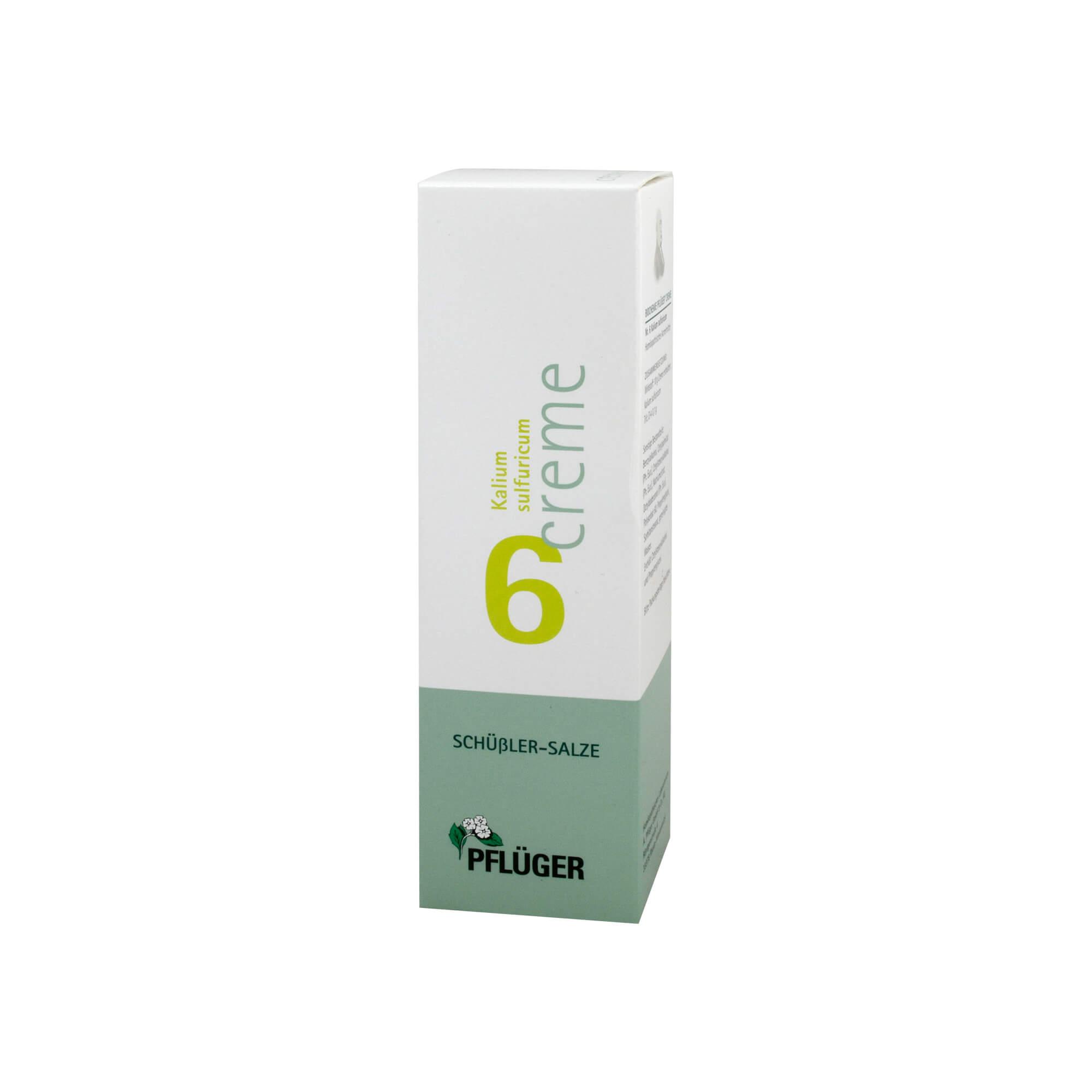 Biochemie Pflüger 6 Kalium Sulfur. Creme