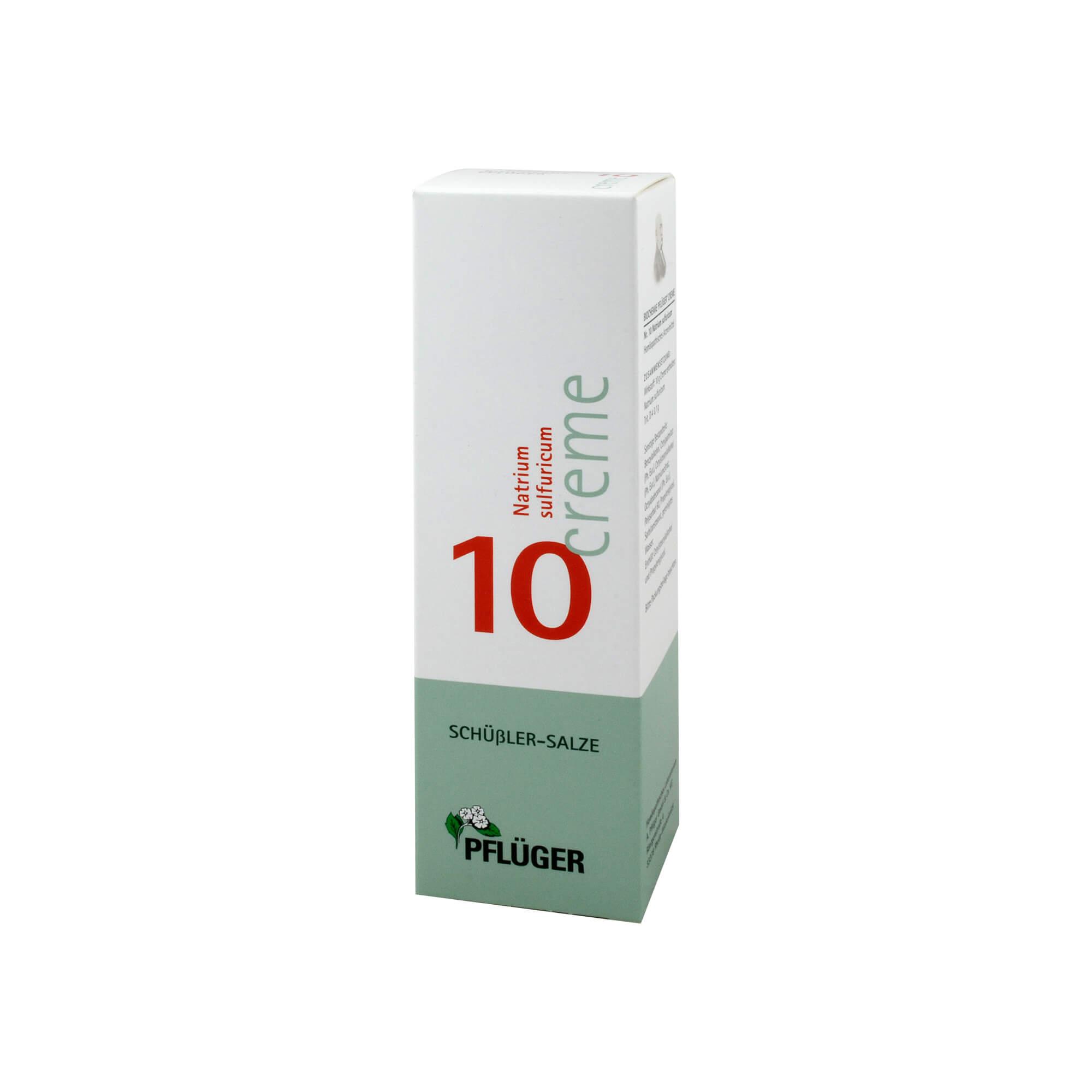 Biochemie Pflüger 10 Natrium sulfur. Creme