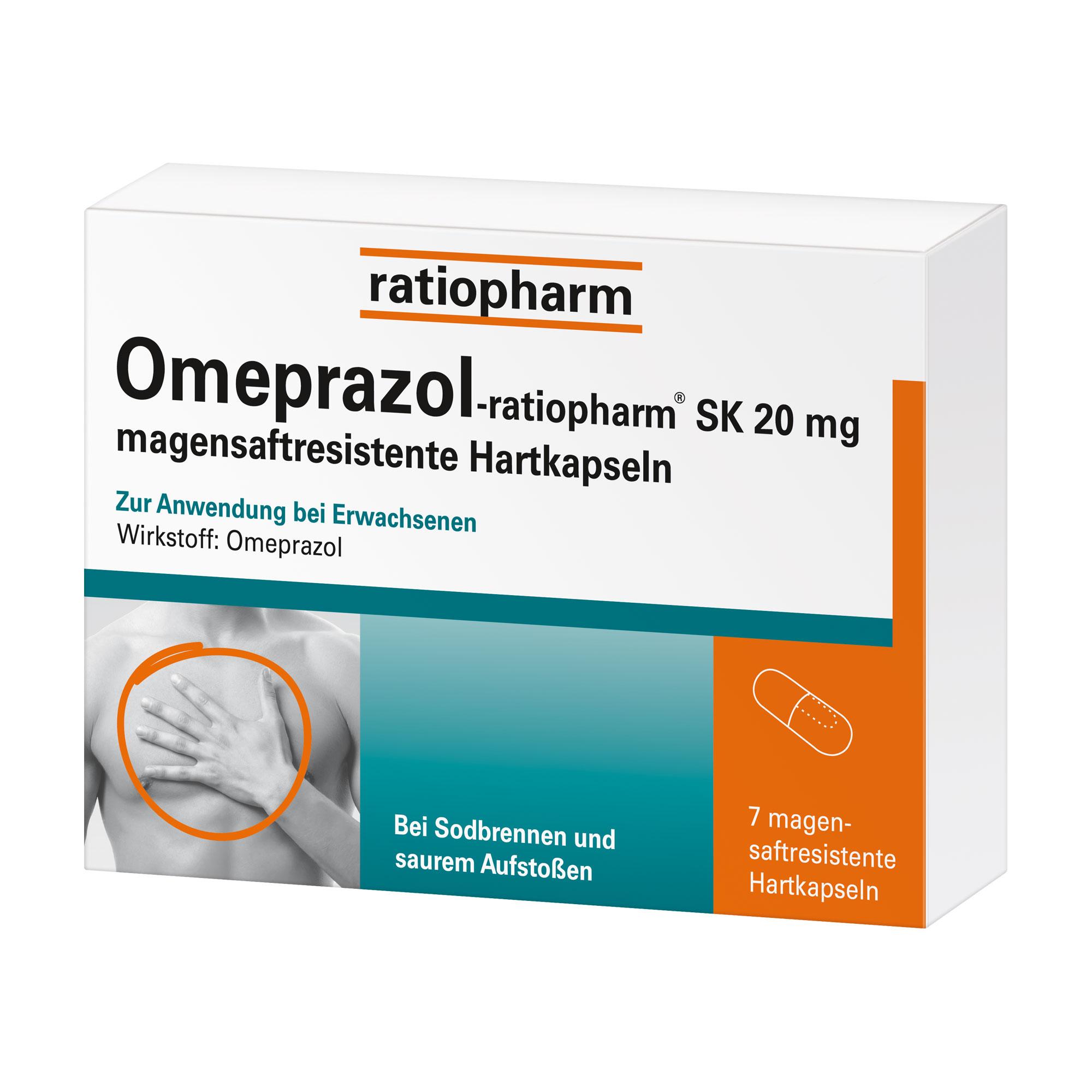 Omeprazol-ratiopharm SK 20 mg