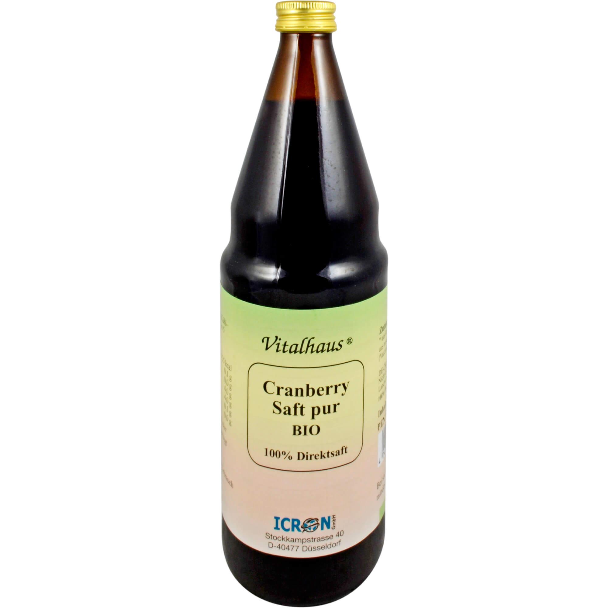 Cranberry Saft Pur Bio Vitalhaus