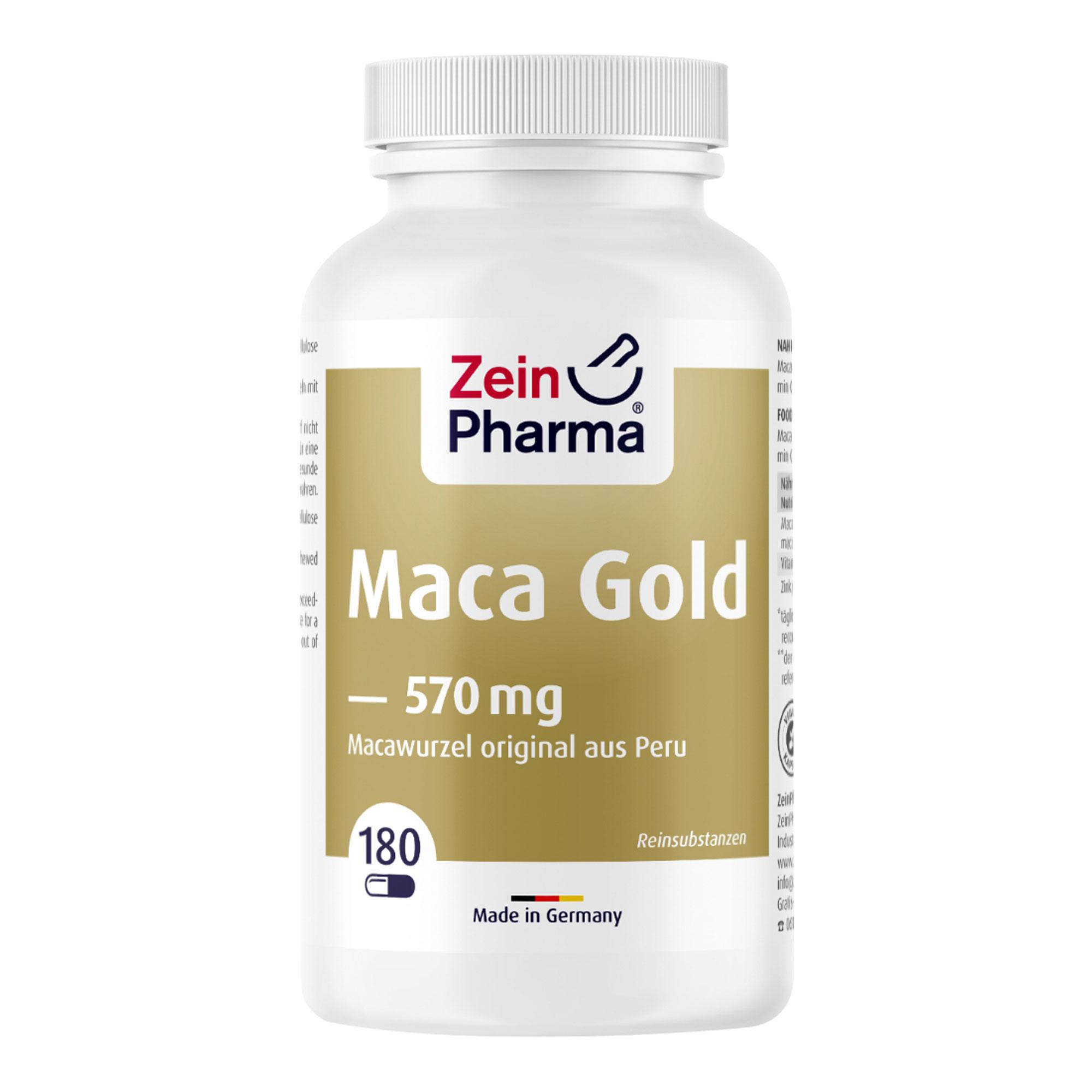 Maca Gold 570 mg vegetarische Kapseln
