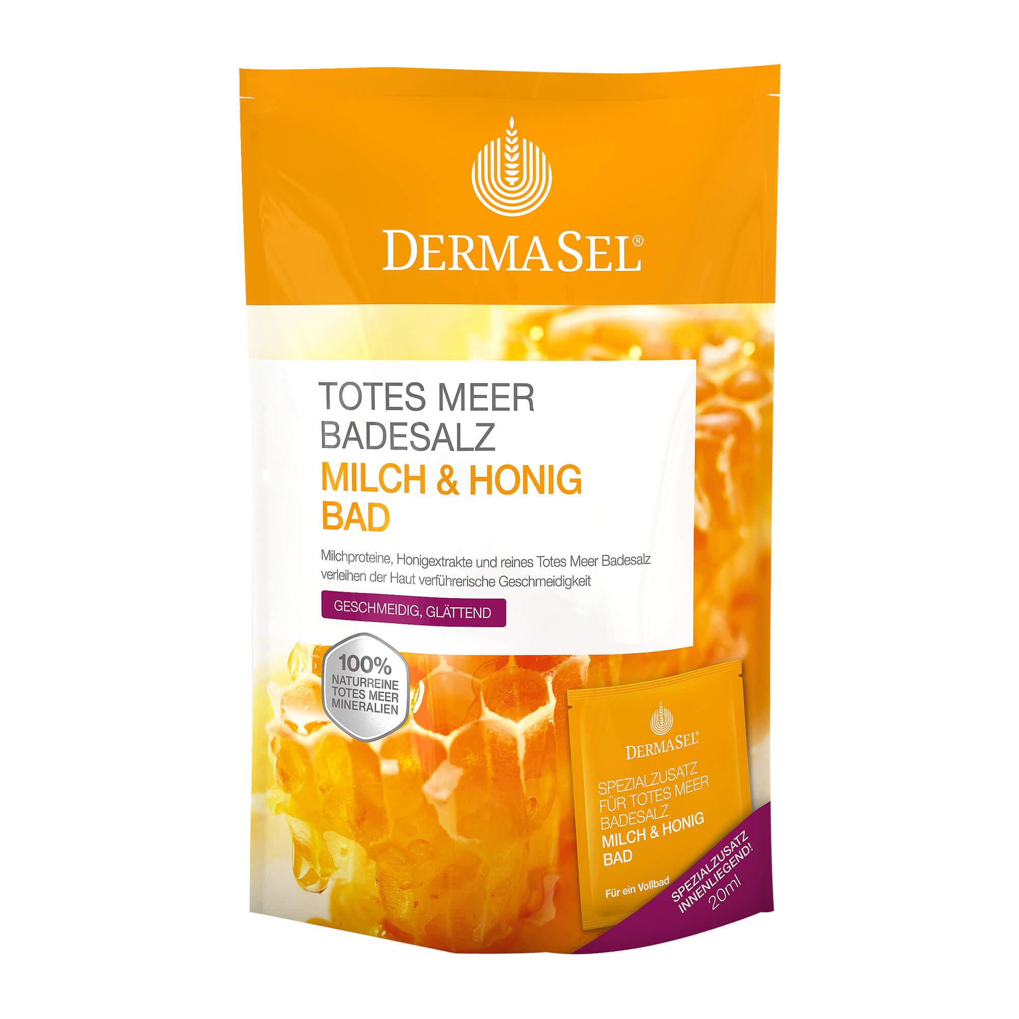 DermaSel Totes Meer Salz Milch & Honig