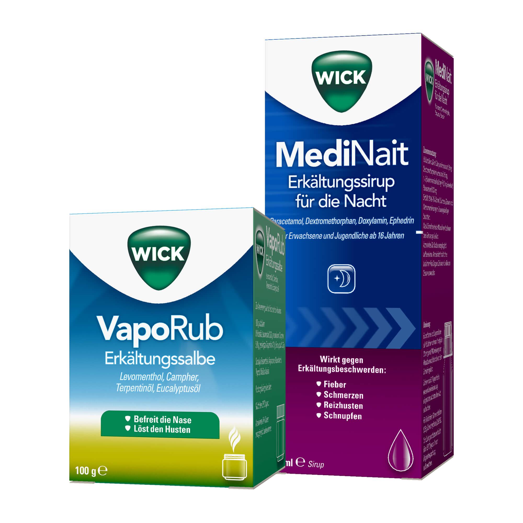 Spar-Set: WICK MediNait 180 ml + VapoRub 100 g