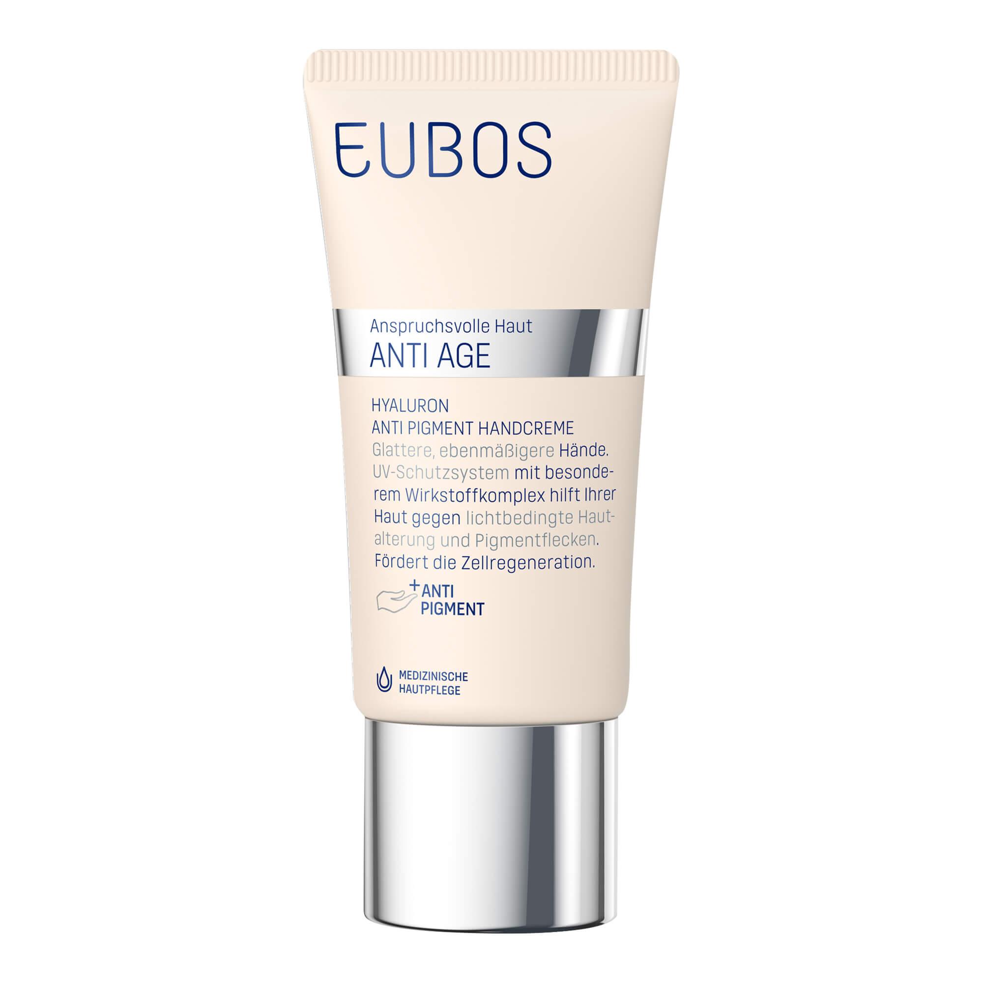 Eubos ANTI AGE Hyaluron Anti Pigment Handcreme LSF 15