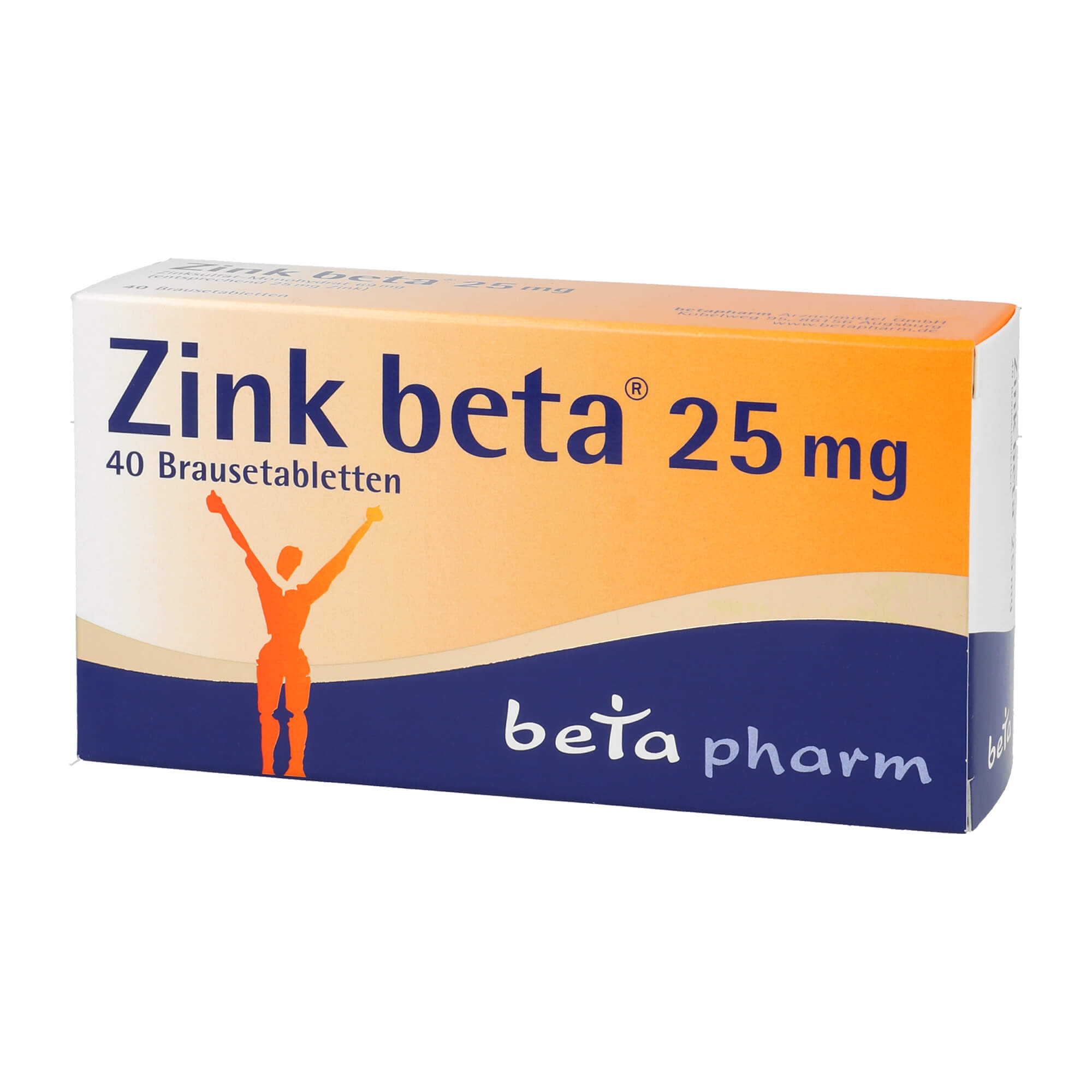 Zink beta 25 mg Brausetabletten