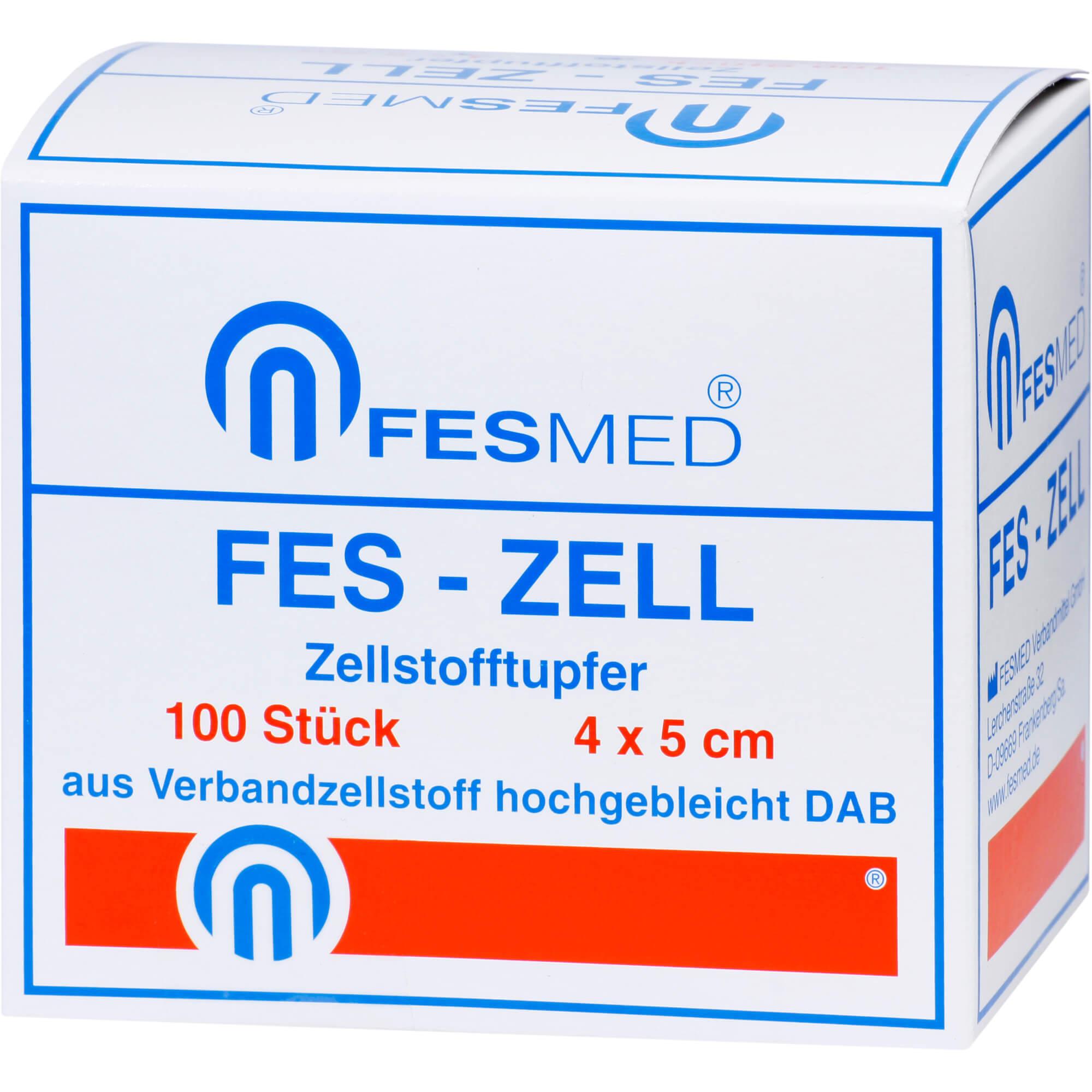Fes-Zell Zellstofftupfer 4 x 5 cm