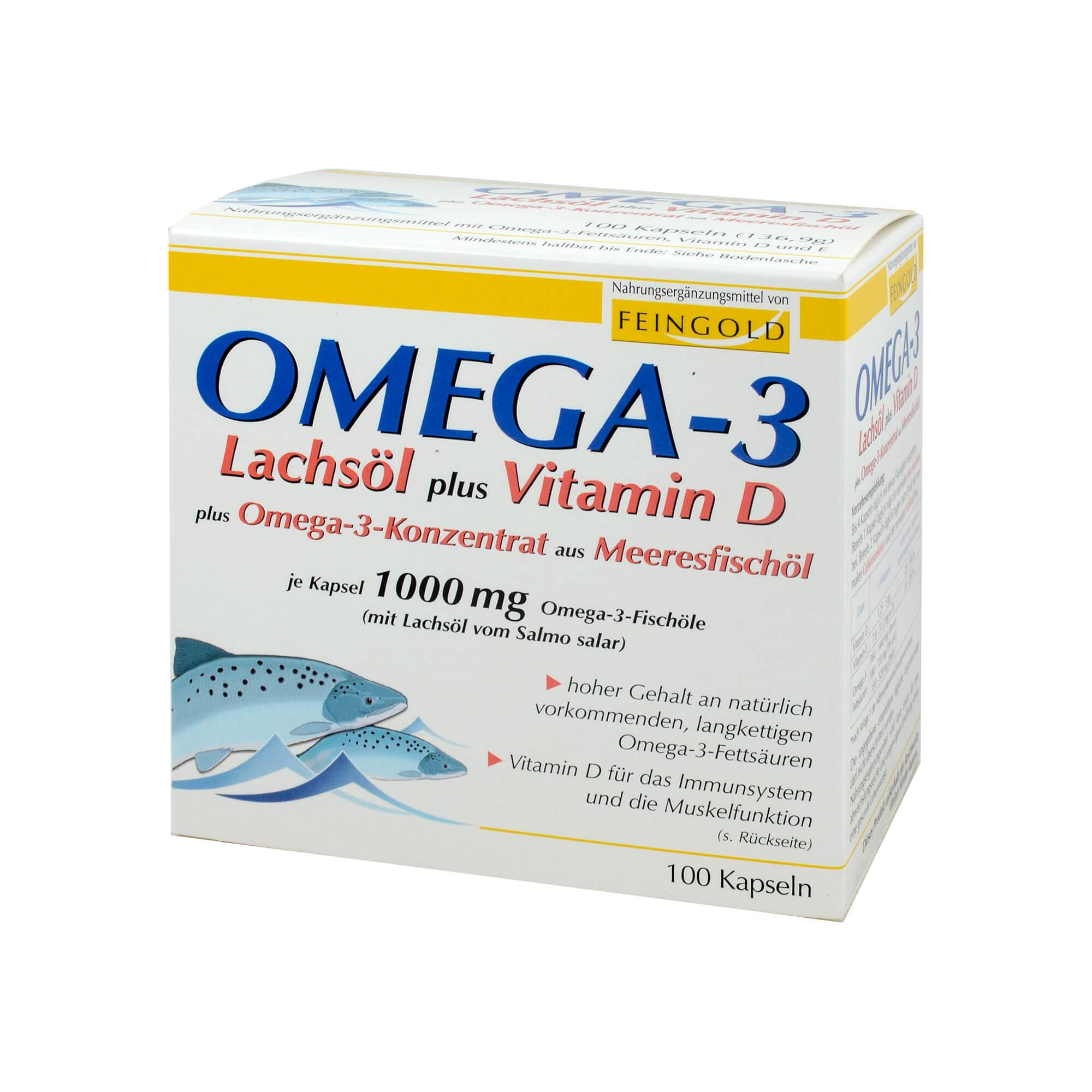 Omega 3 Lachsöl Plus Vit. D Plus Omega3 Konz. Kps.