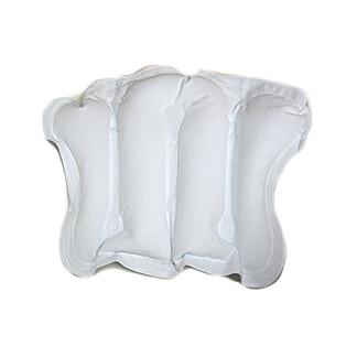 Badewannen Kopfpolster Aufblasbar Frottee Weiß