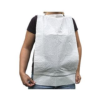 Einmallätzchen für Erwachsene zum Binden mit Tasche