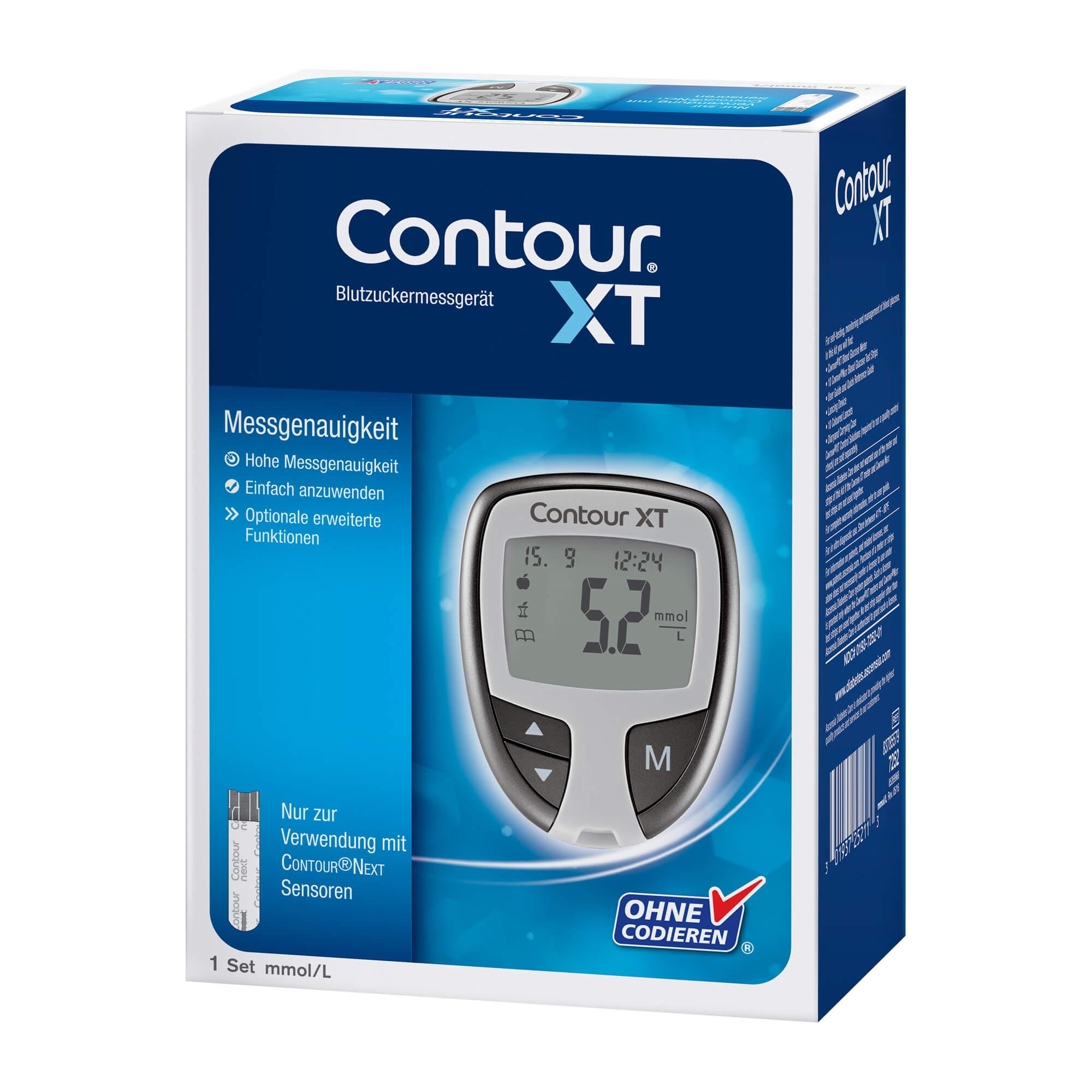 Contour XT Set Blutzuckermessgerät mmol/L