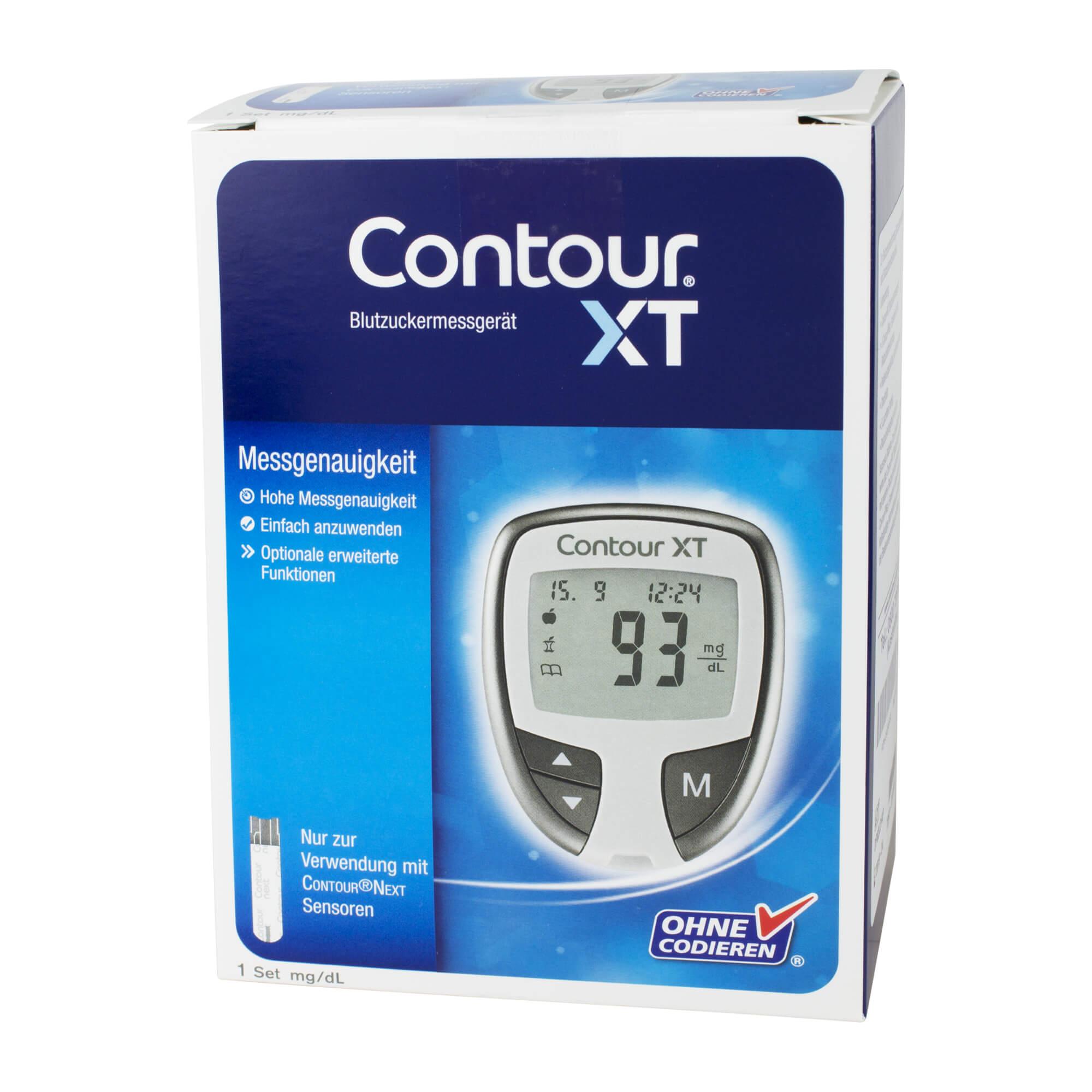 Contour XT Set Blutzuckermessgerät mg/dL