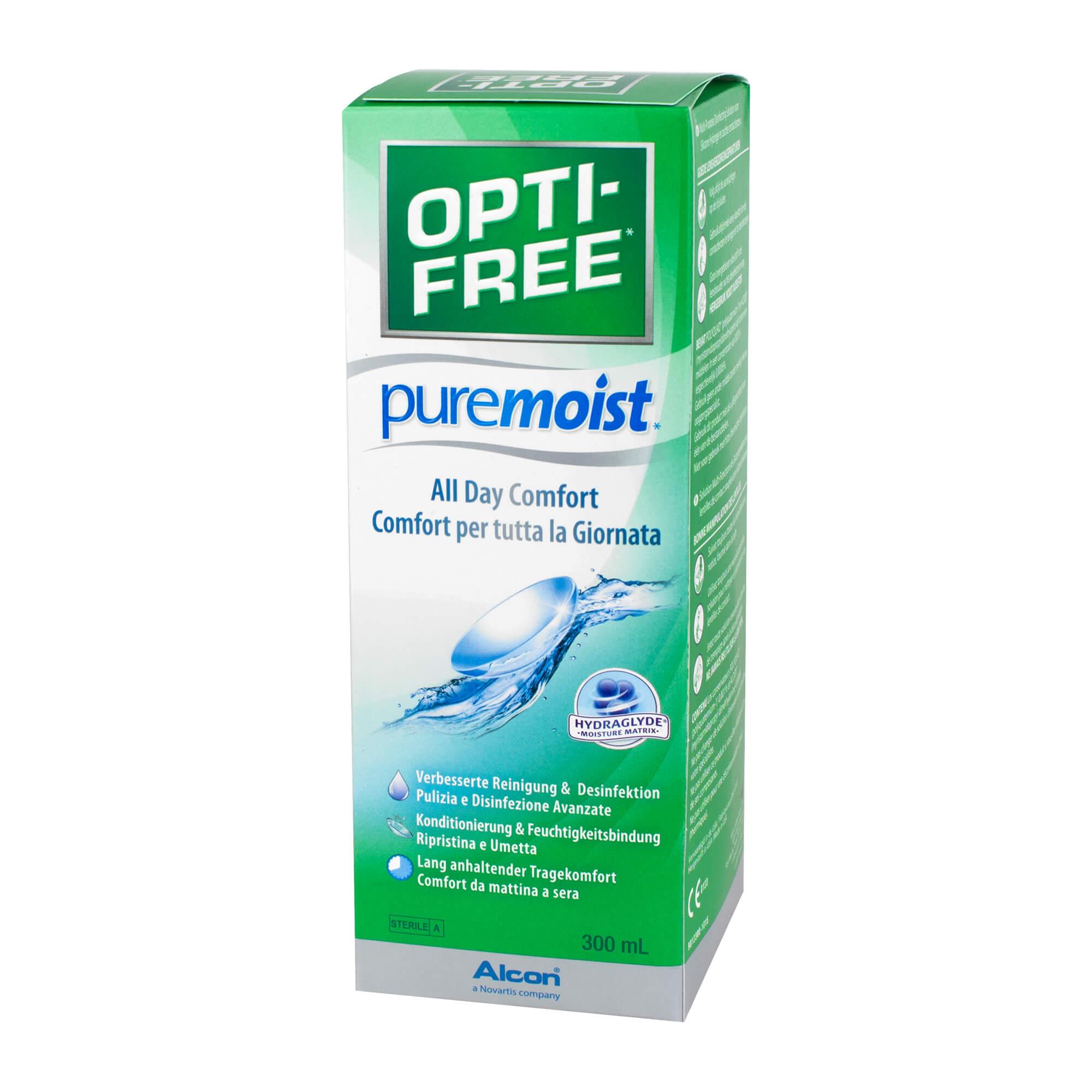 OptiFree Puremoist Desinfektionslösung für Kontaktlinsen