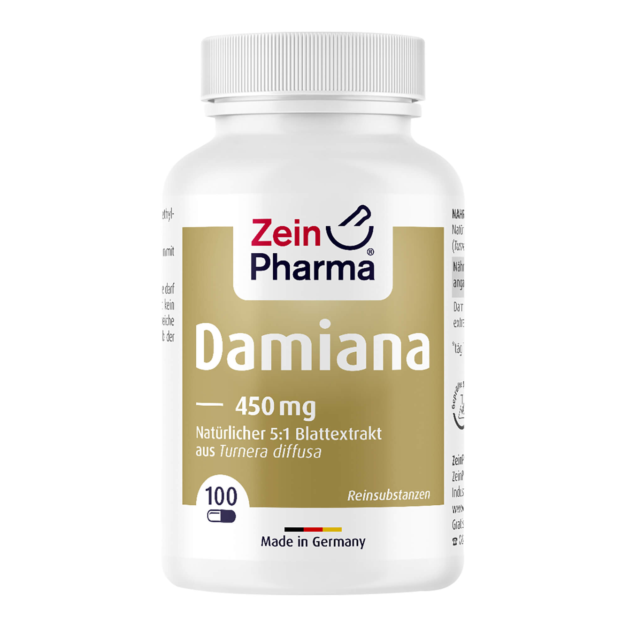 Damiana Kapseln 450 mg 5 zu 1 Blattextrakt