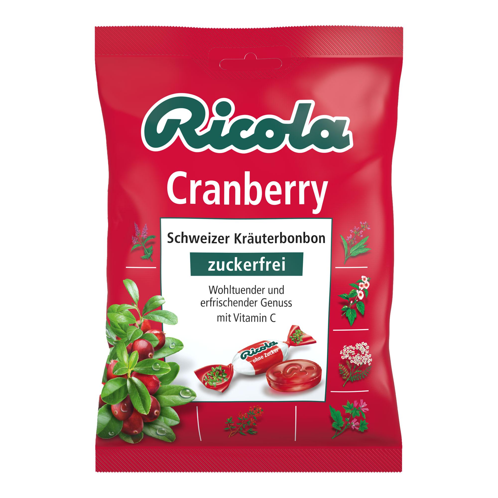 Ricola Cranberry Bonbons zuckerfrei