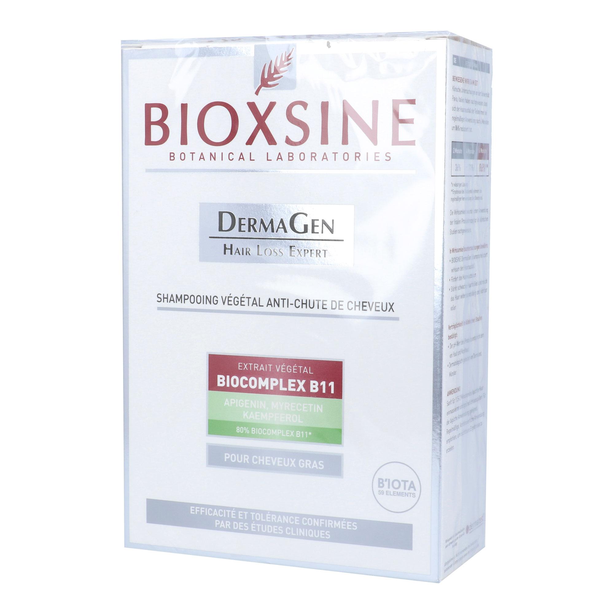 Bioxsine pflanz. Shampoo gegen Haarausfall bei fettigem Haar